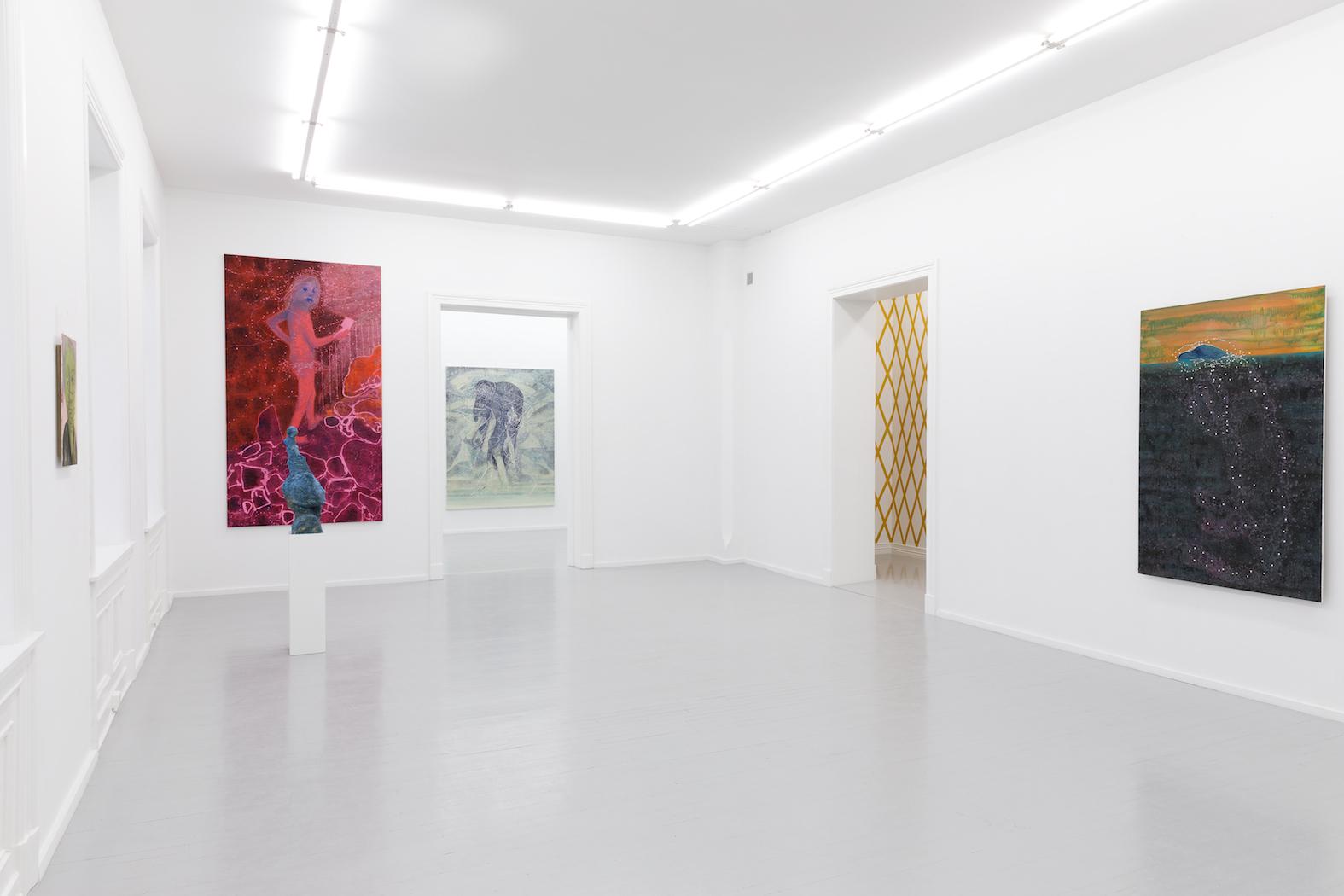 Installation view, Nærnere Enn Hva Du Vet, Galleri Riis, Oslo, 2018