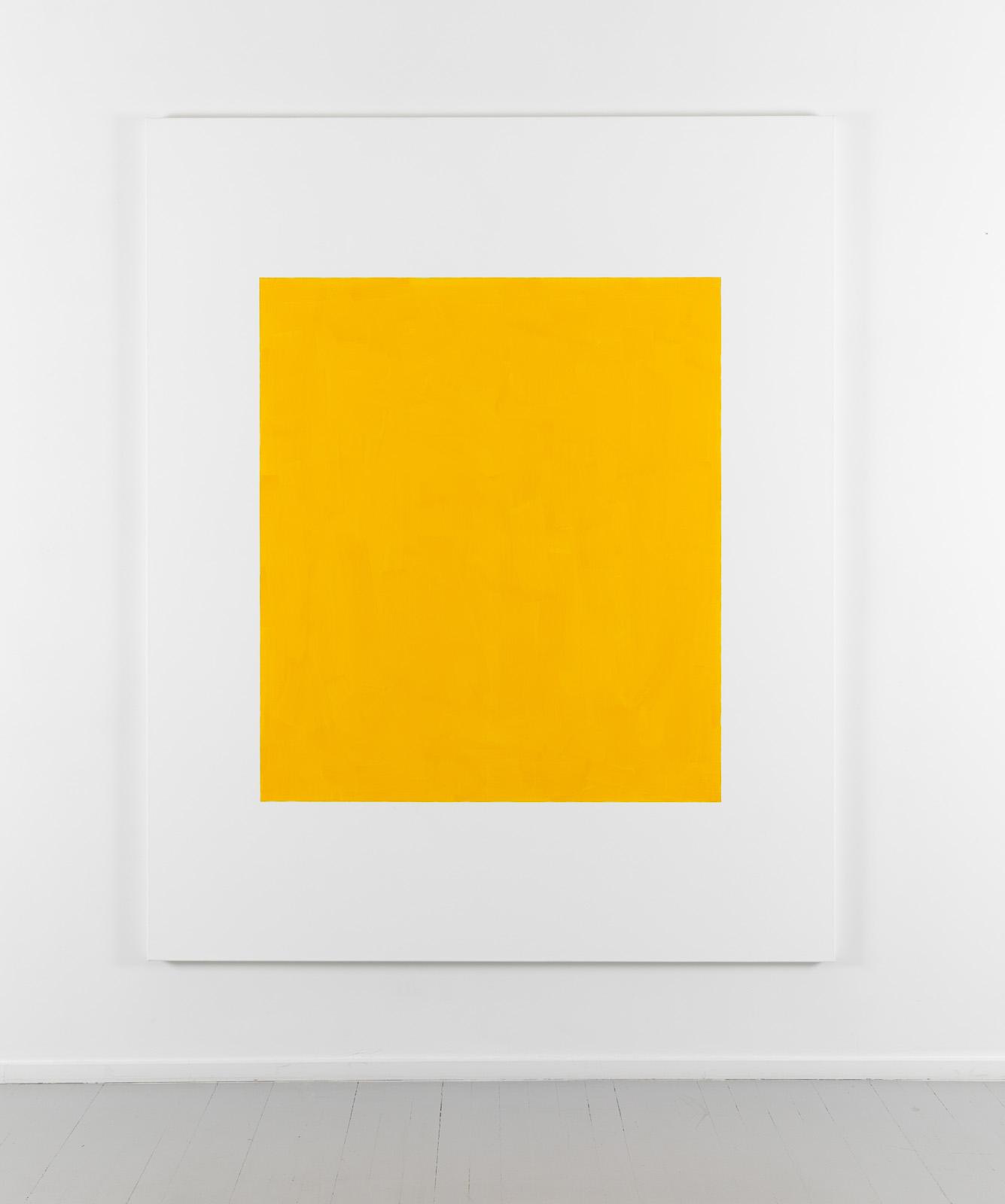 Untitled - kadmiumgul middels, 2001, Acrylic and oil on canvas, 200 x 163 cm