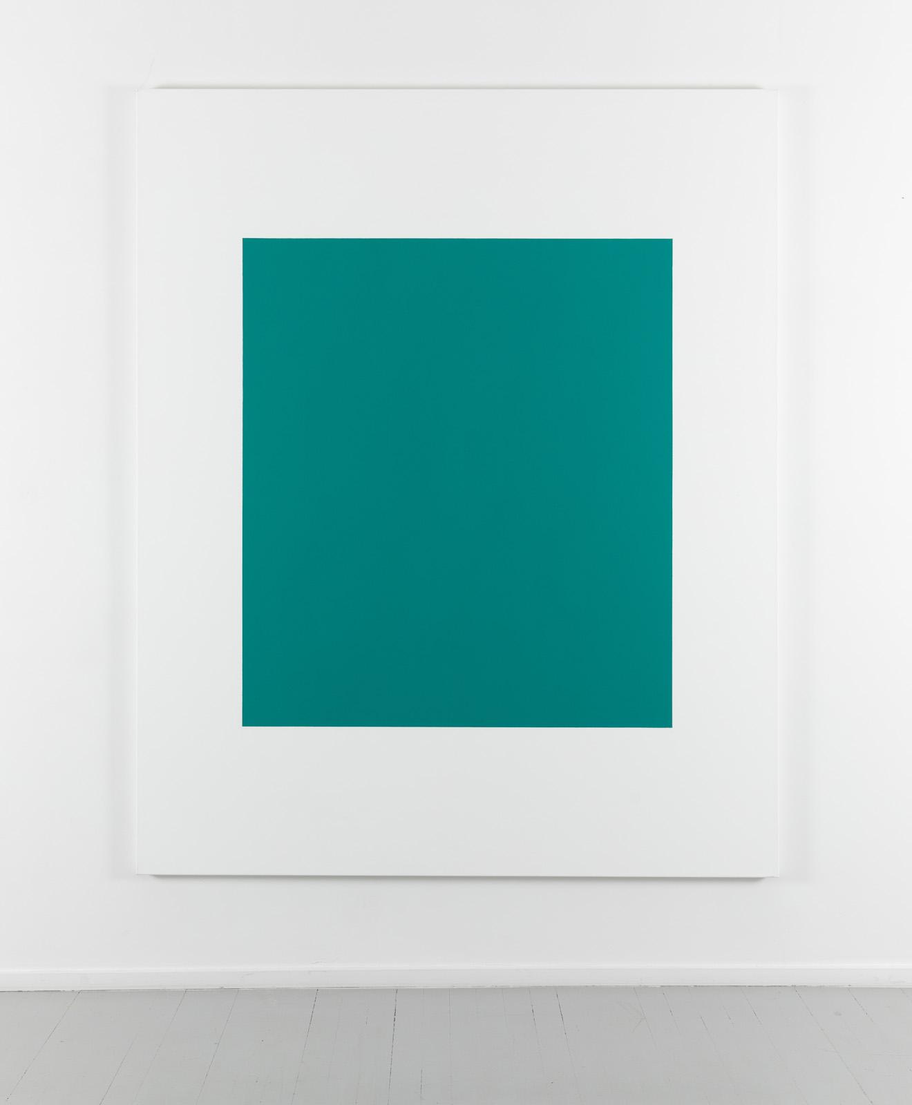 Untitled - kobolt grønn turkis, 2003, Acrylic and oil on canvas, 200 x 163 cm