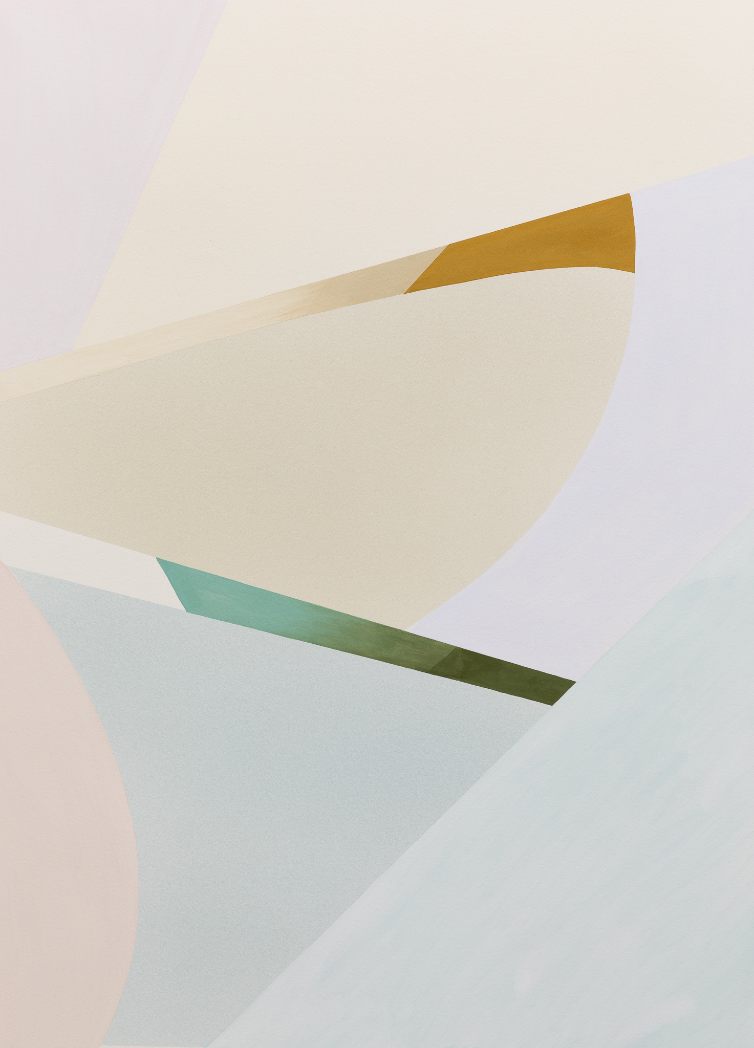 Lightcurves V, 2020, Watercolor and casein tempera on paper, 130,5 x 94,3 cm