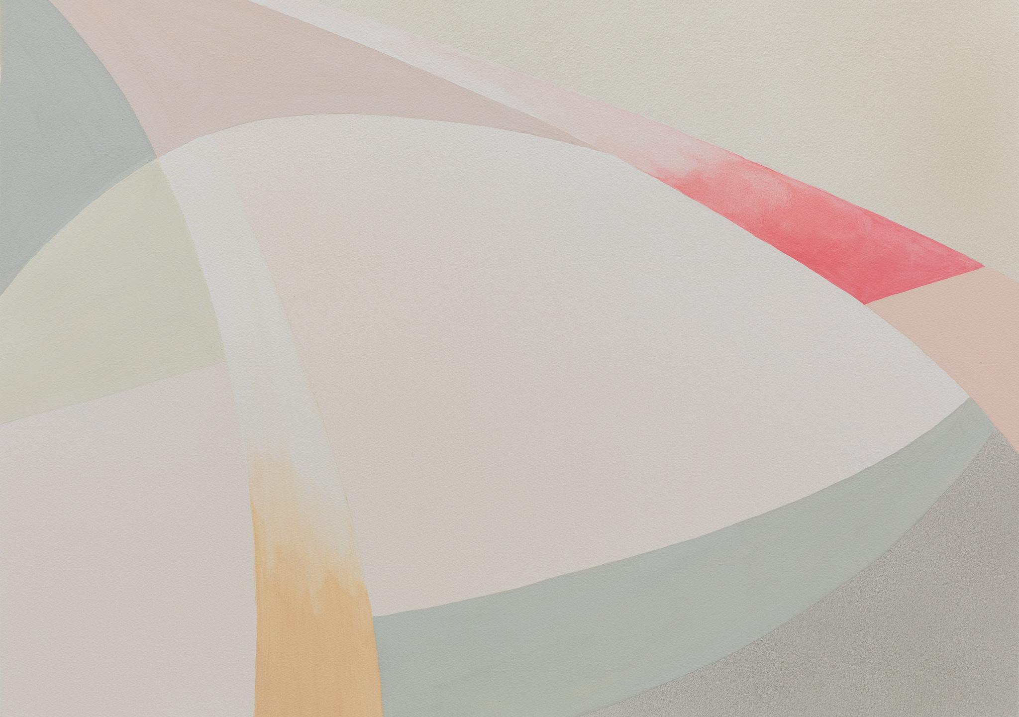 Lightcurves VII, 2020, Watercolor and casein tempera on canvas, 59 x 82,5 cm