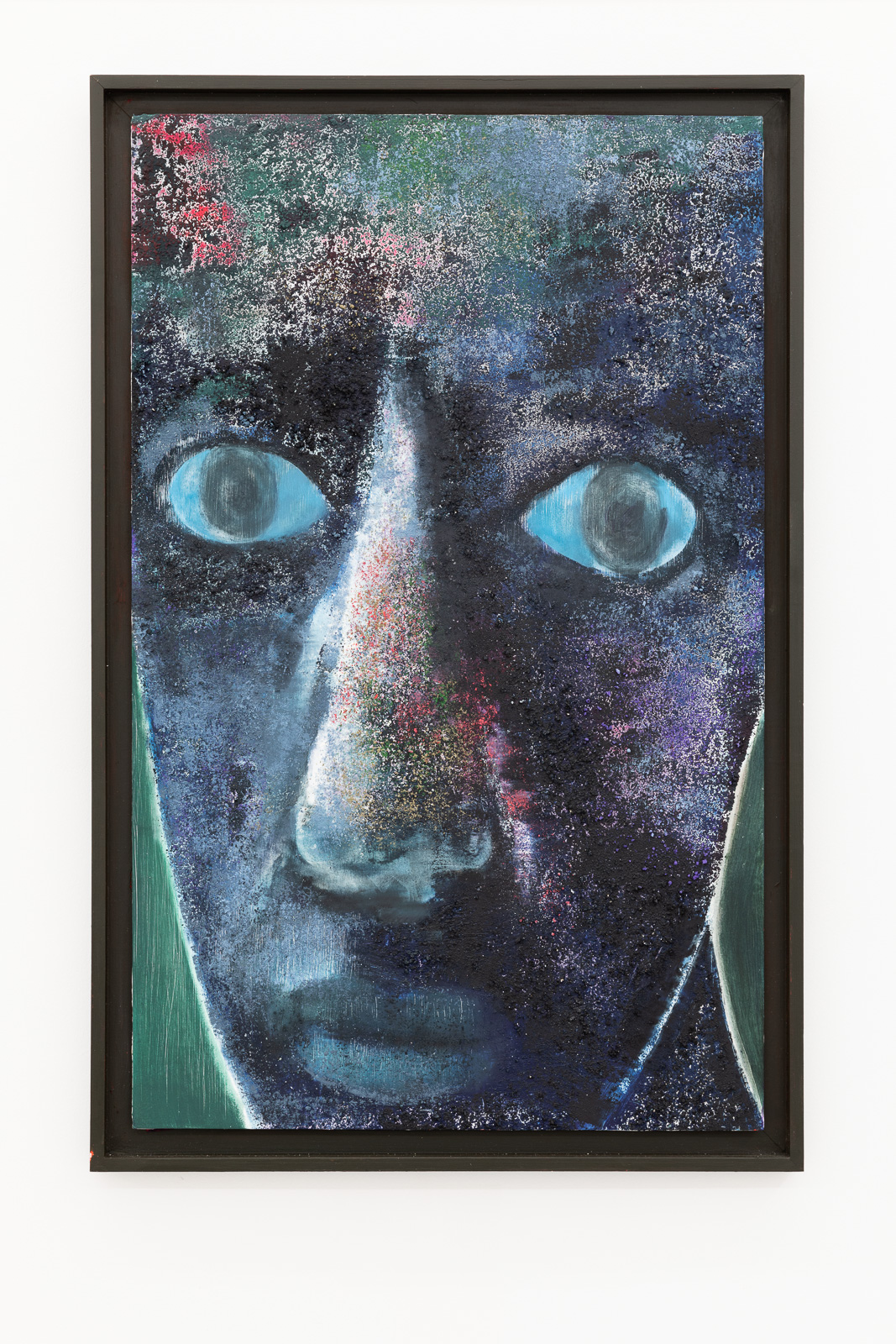 En Ullen Følelse, 2015, Oil, pastel and pumice on dibond panel in unique artist's painted frame, 71 x 46 x 3 cm