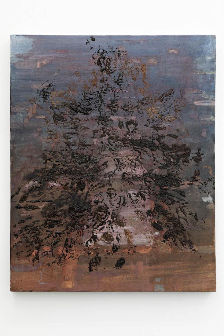 zerosandones III, 2018, Oil on canvas, 76 x 61 cm