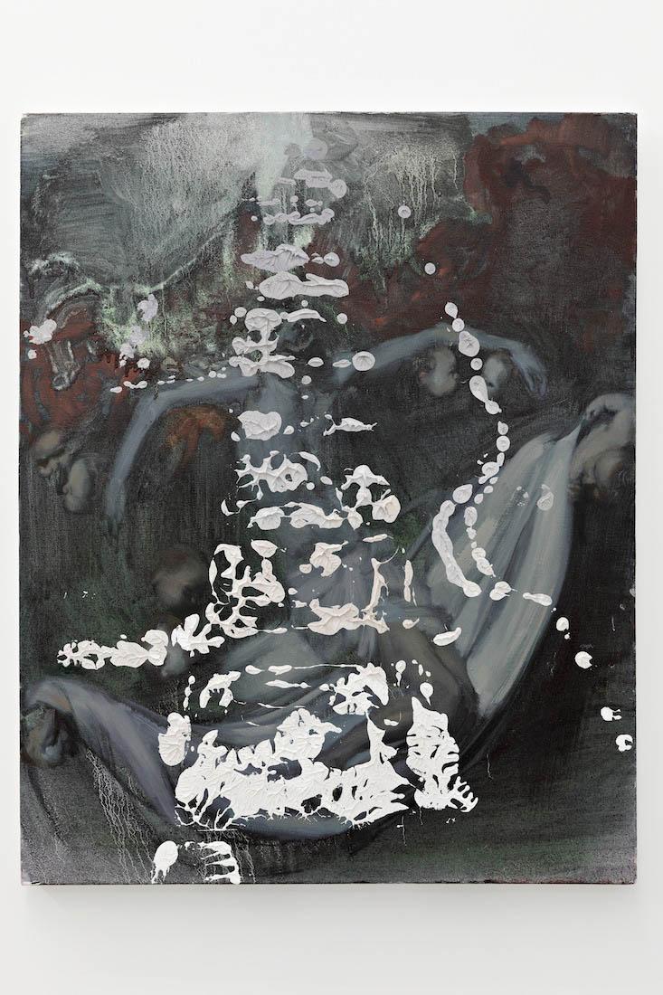 Zeroandones I, 2018. Oil on canvas, 76 x 61 cm