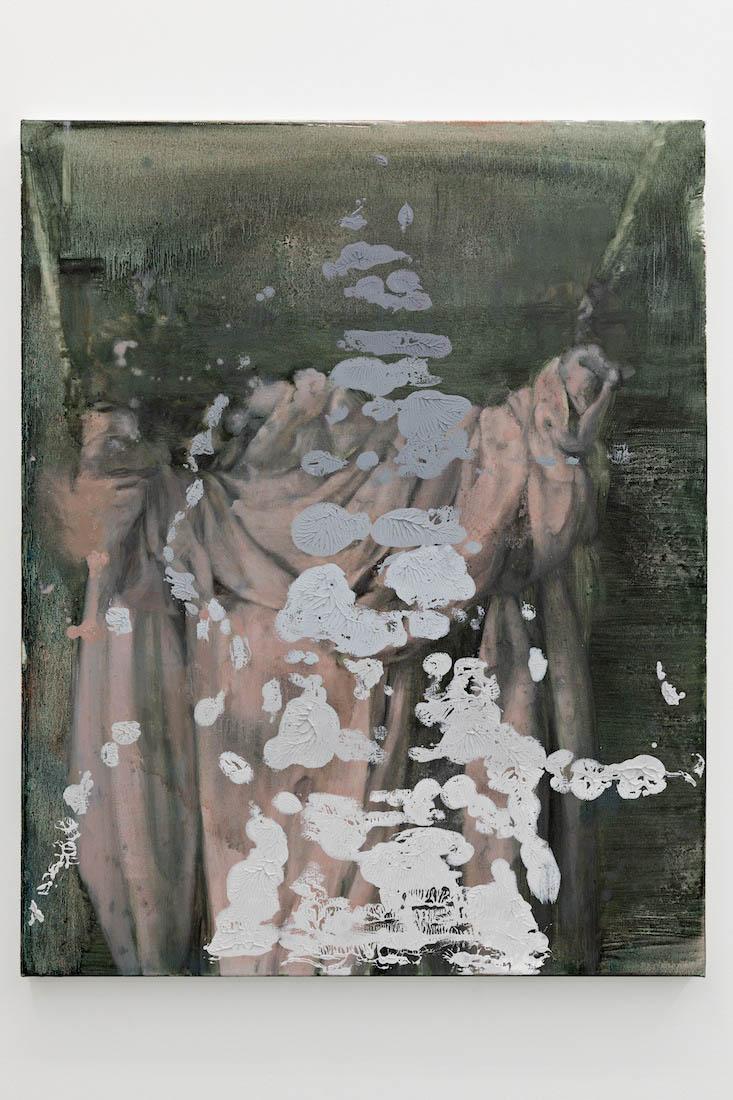 zerosandones V, 2018, Oil on canvas, 76 x 61 cm