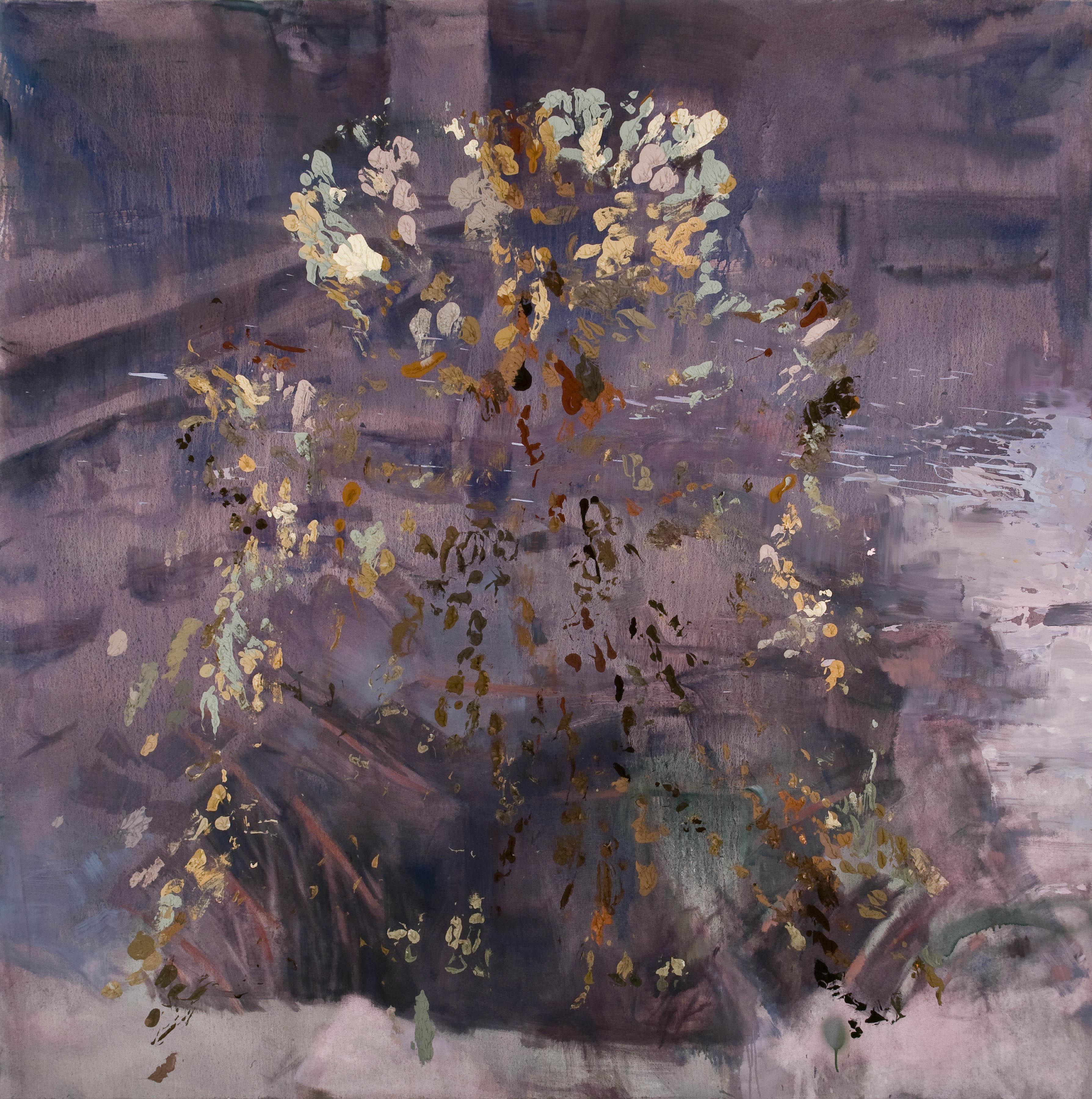 A Rebound, Introvert, 2013, Oil on canvas, 213 x 213 cm