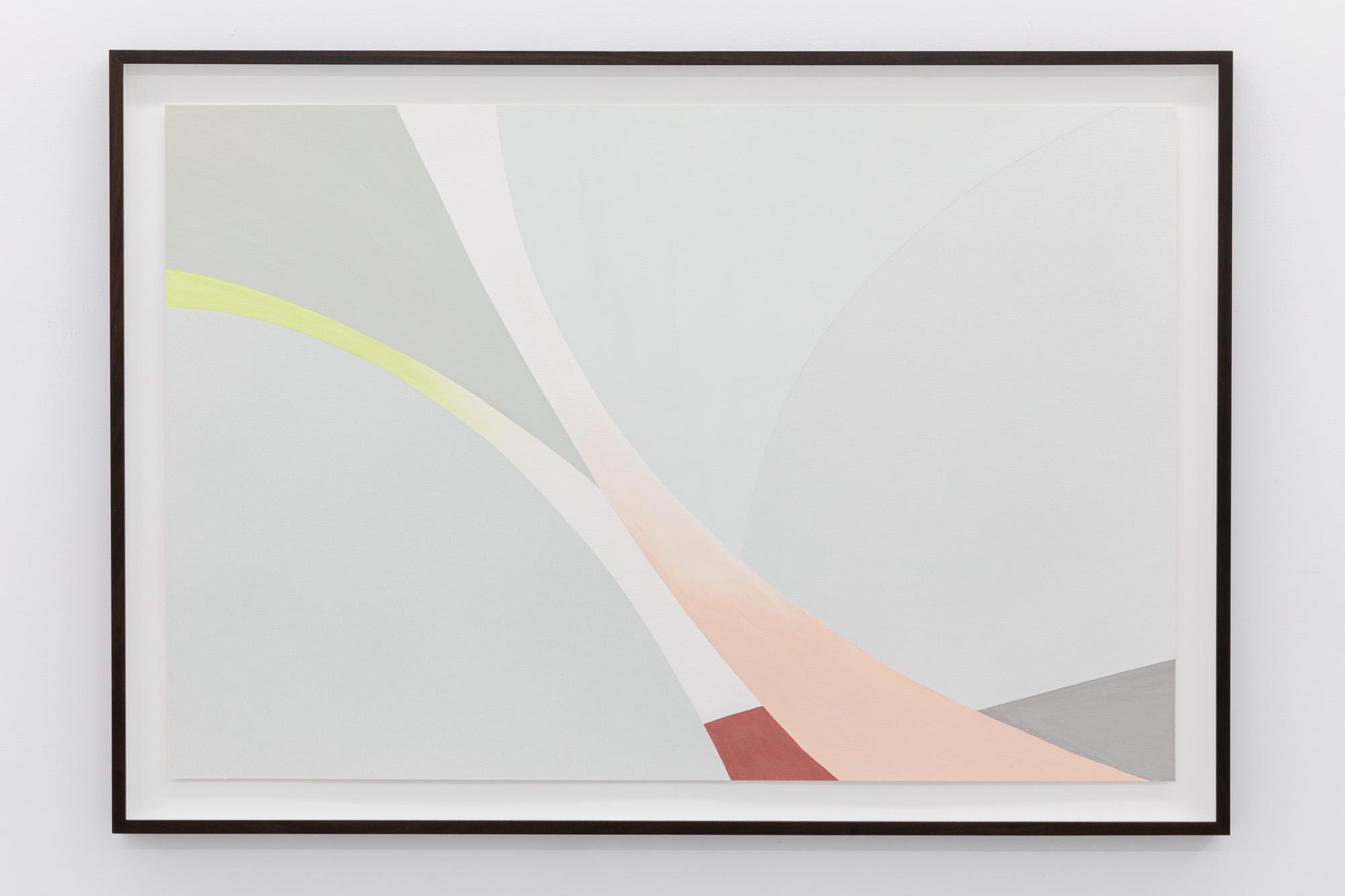 Lightcurves VI, 2020, Watercolor and casein tempera on 640 gsm Arches Grain Torchon paper, 78,2 x 116,5 cm, Unique