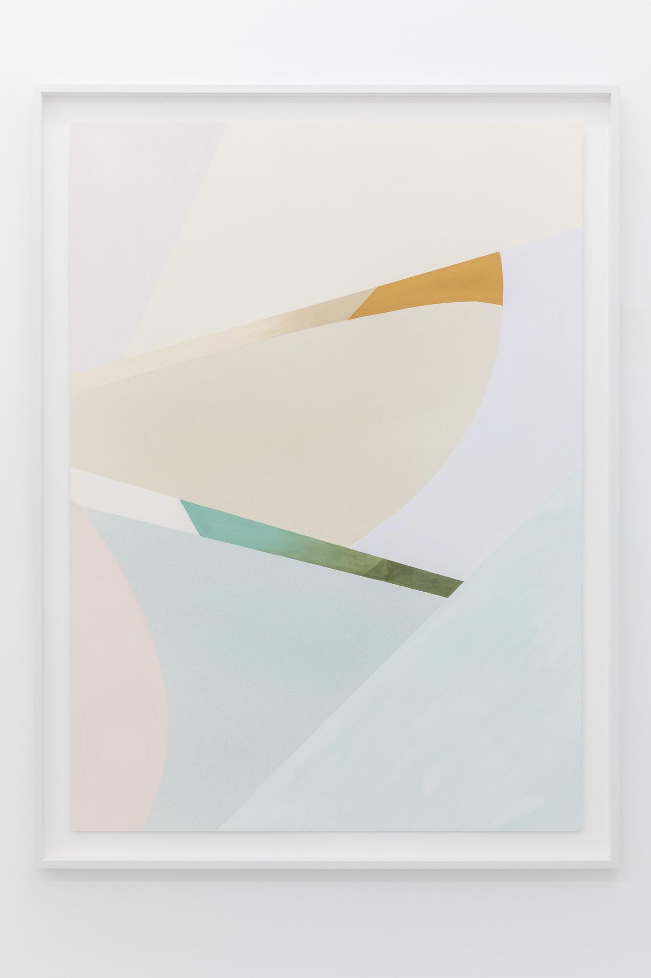 Lightcurves V, 2020, Watercolor and casein tempera on 640 gsm Arches Grain Torchon paper, 130,5 x 94,3 cm, Unique