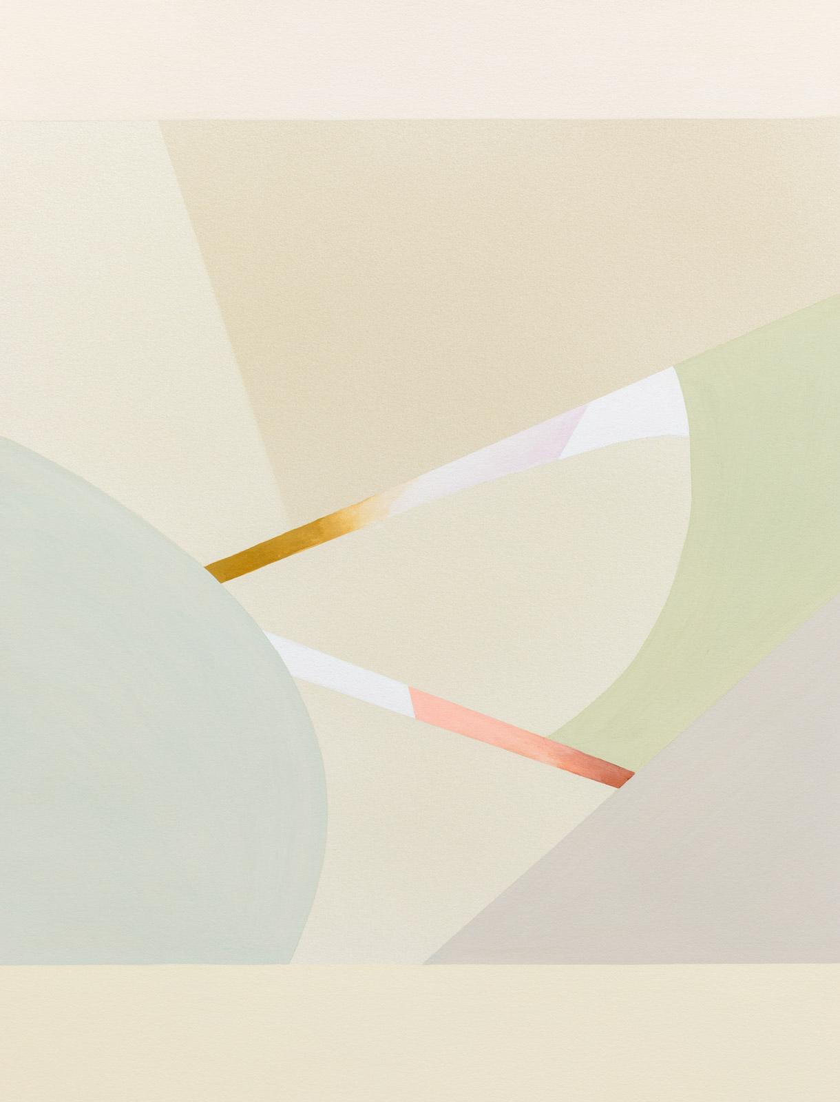 Lightcurves VIII, 2020, Watercolor and casein tempera on 640 gsm Arches Grain Torchon paper, 92 x 70 cm, Unique