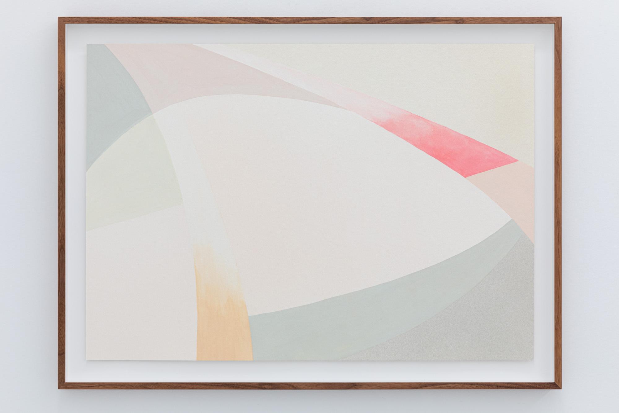 Lightcurves VII, 2020, Watercolor and casein tempera on 640 gsm Arches Grain Torchon paper, 59 x 82,5 cm, Unique