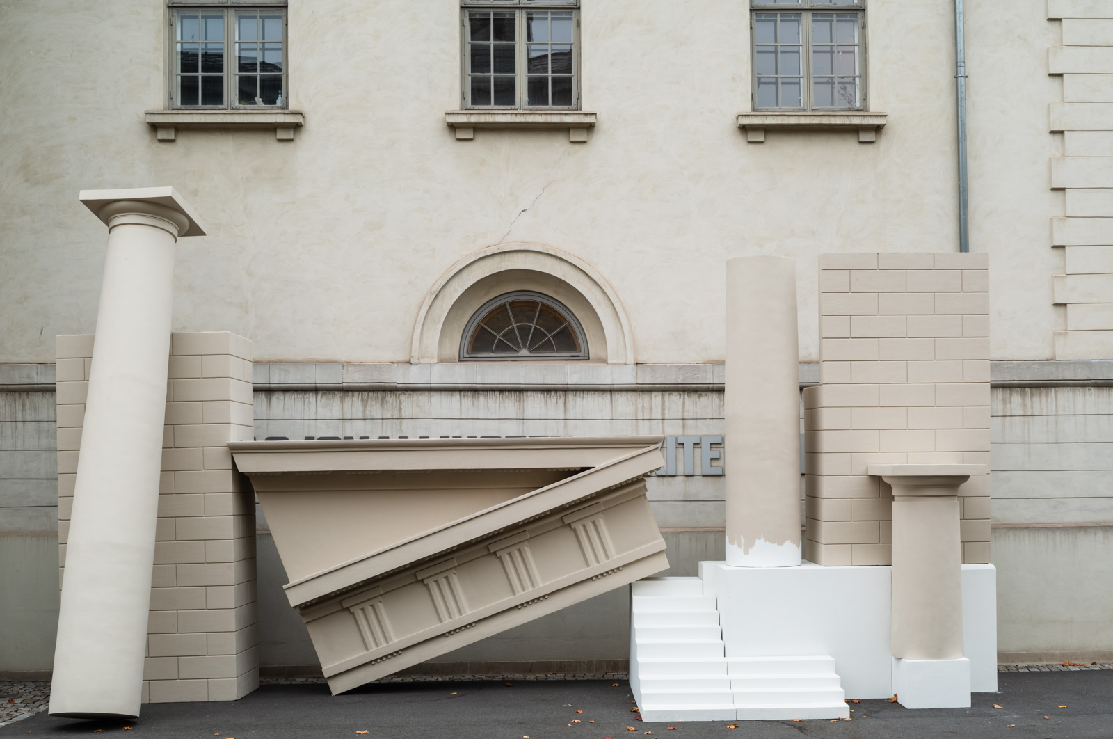 Installation view, Potemkinby, Nasjonalmuseet Arkitektur / Noplace, Photo: Damian Heinisch