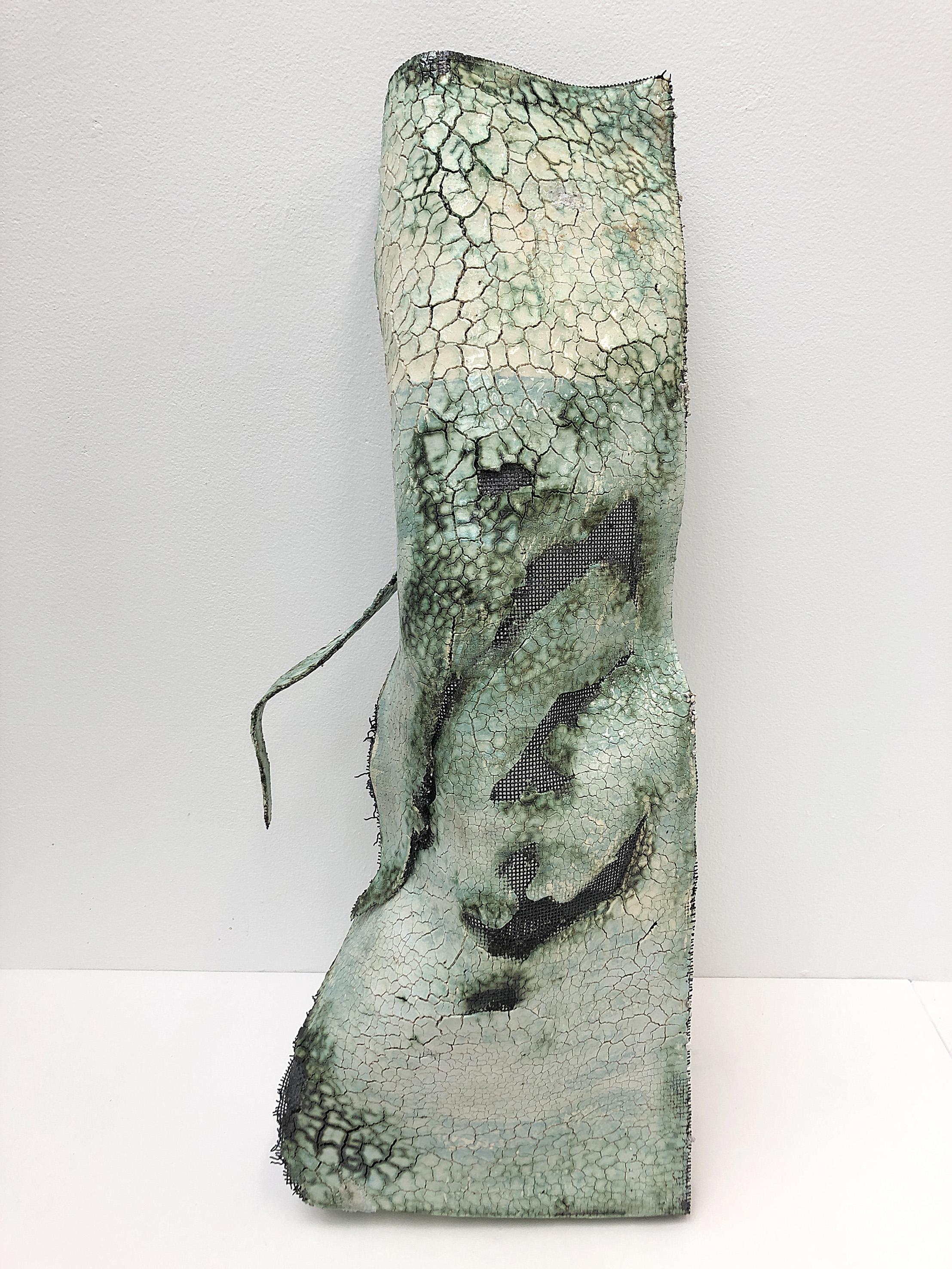Banner 2, Steel-reinforced ceramics, 21 x 104 x 38 cm