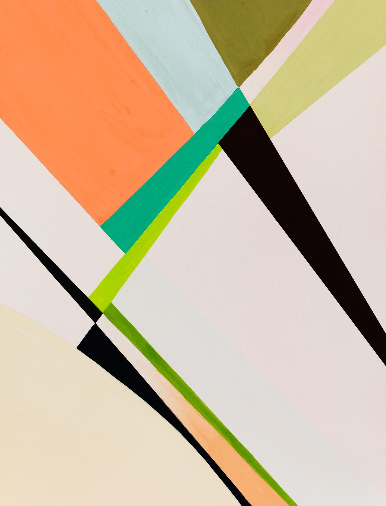 Weaver's Orange, 2020, Watercolor and casein tempera on 640 gms Arches Grain Torchon paper, 55,8 x 42 cm