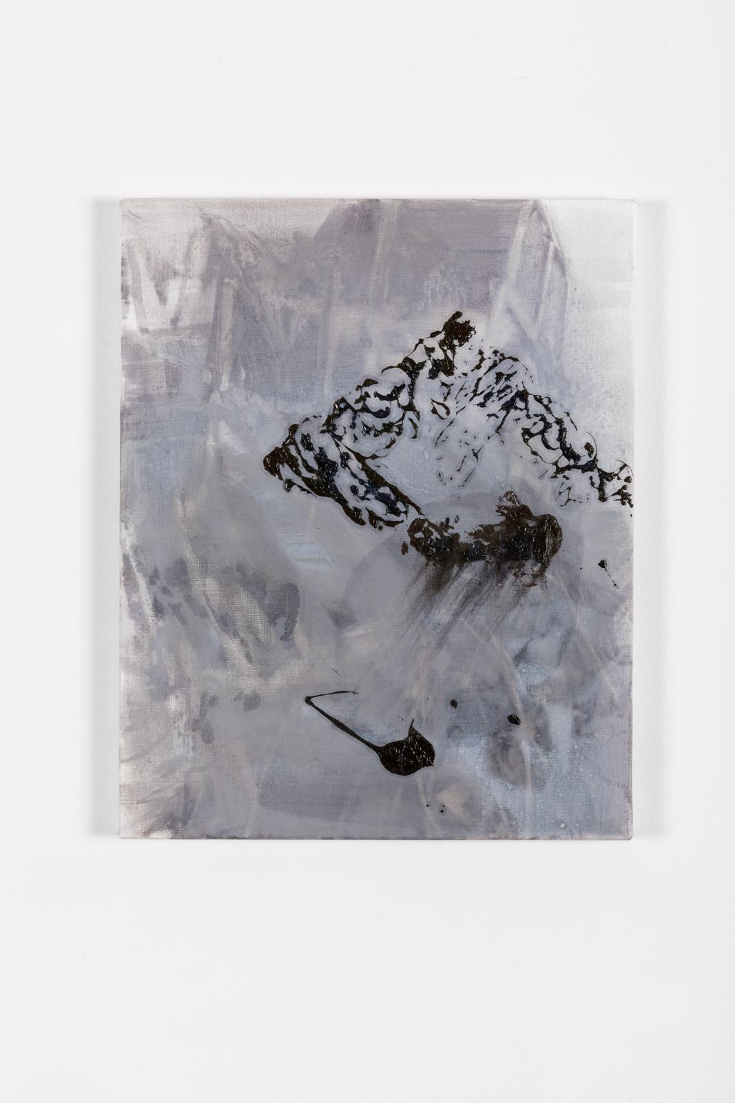Carbon VI, 2021, Oil on canvas, 50 x 40 cm