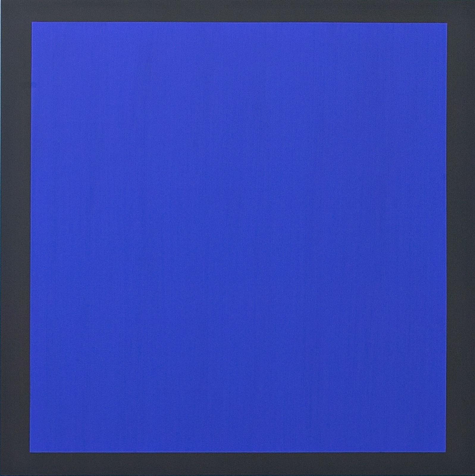Untitled - blått på mørk grått, 2006, oil on canvas, 155 x 155 cm