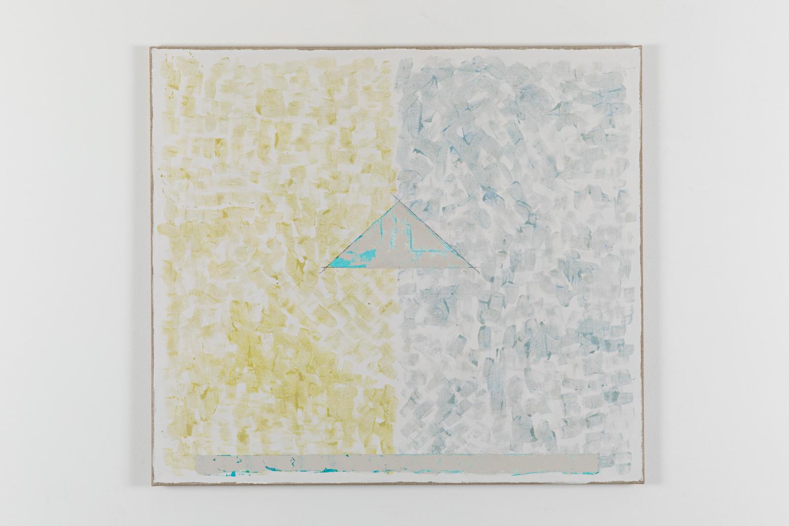 Vila Ziza 6, 2018, Egg tempera on canvas, 80 x 90 cm