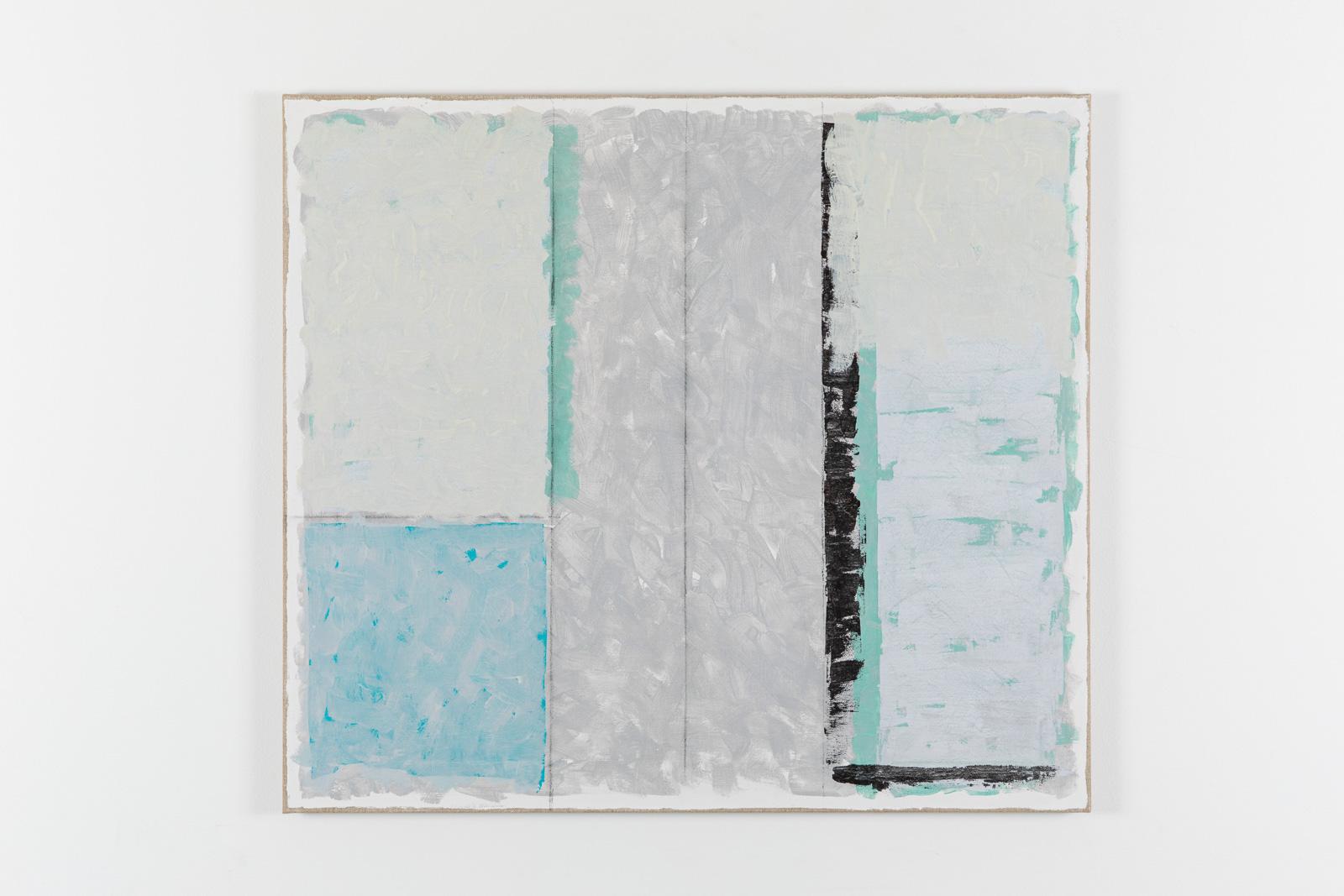 Vila Ziza 9, 2018, Egg tempera on canvas, 80 x 90 cm