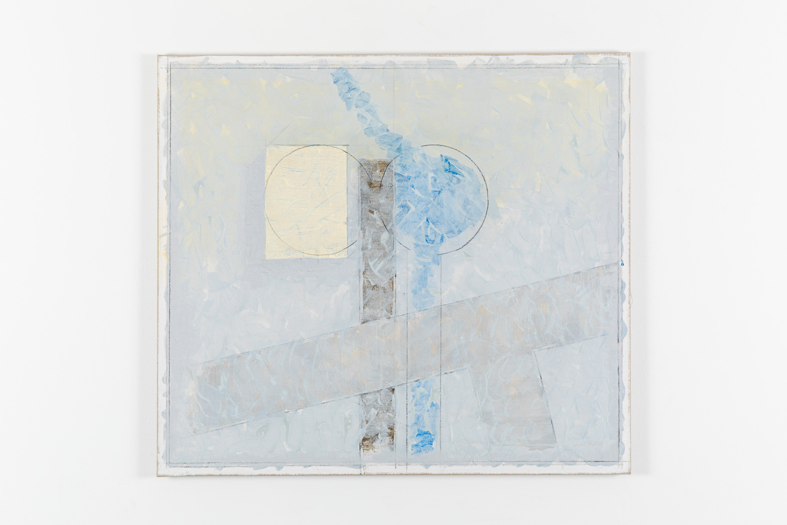 Vila Ziza 20, 2018, Egg tempera on canvas, 80 x 90 cm