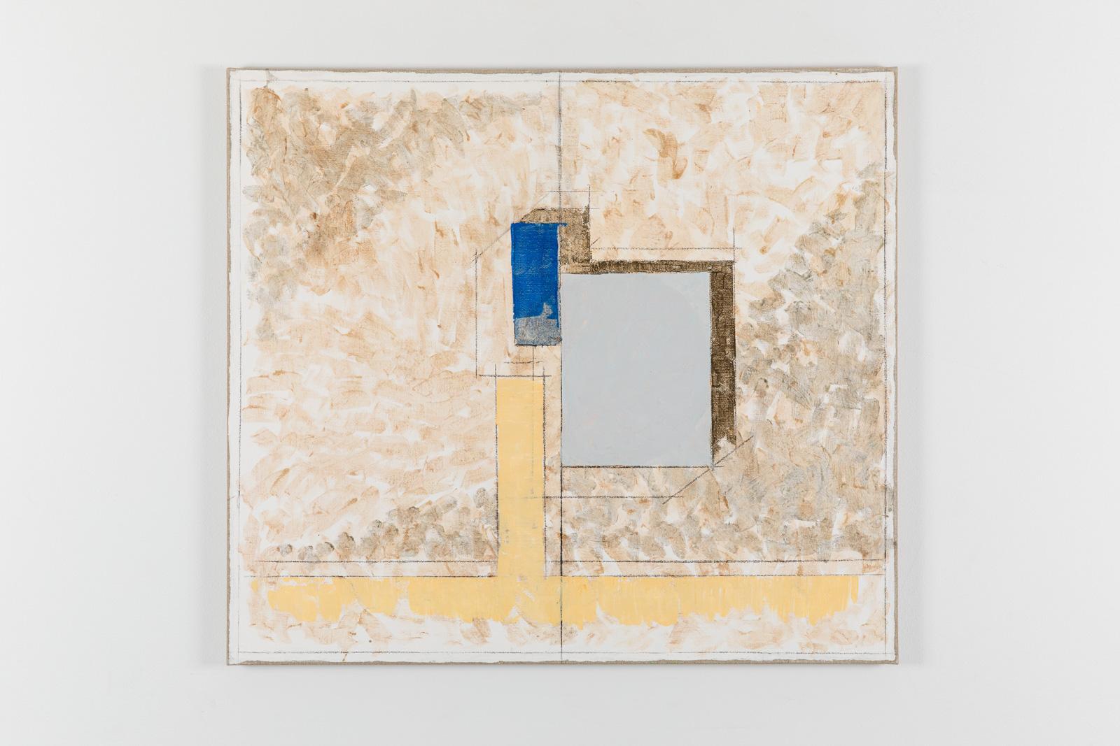 Vila Ziza 22, 2018, Egg tempera on canvas, 80 x 90 cm