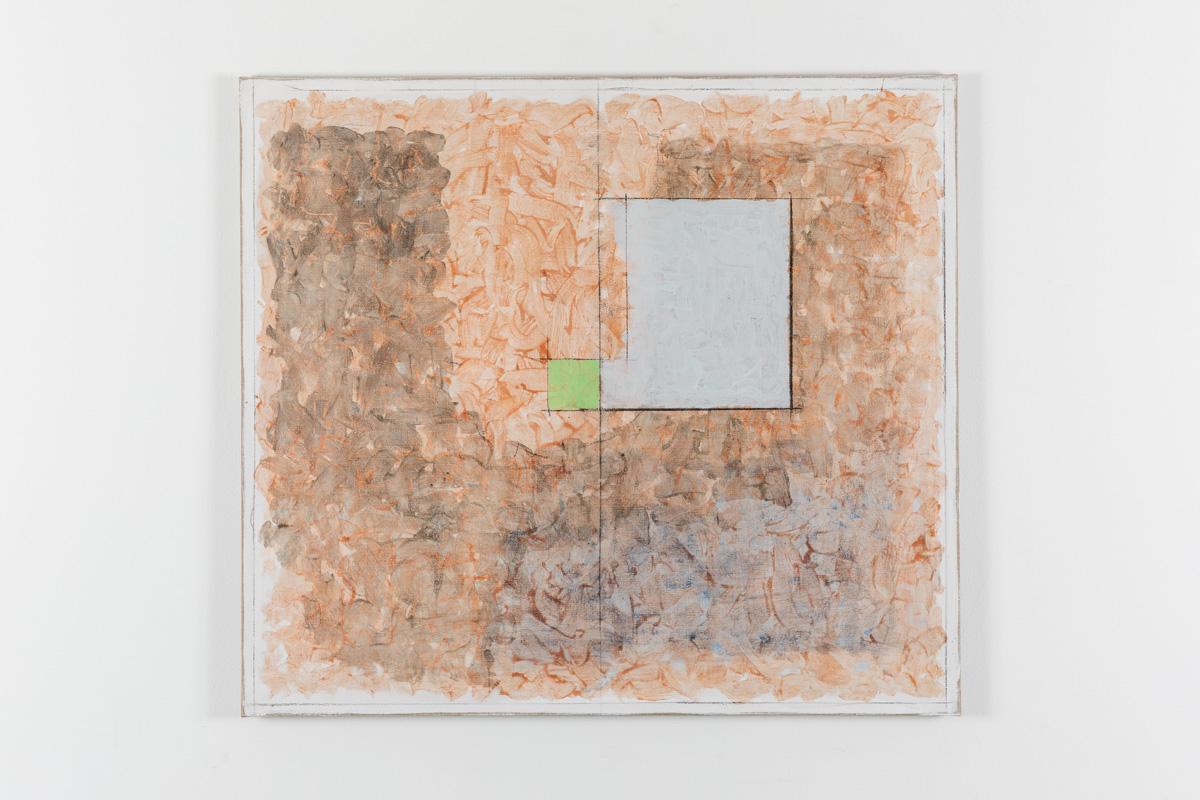 Vila Ziza 23, 2018, Egg tempera on canvas, 80 x 90 cm