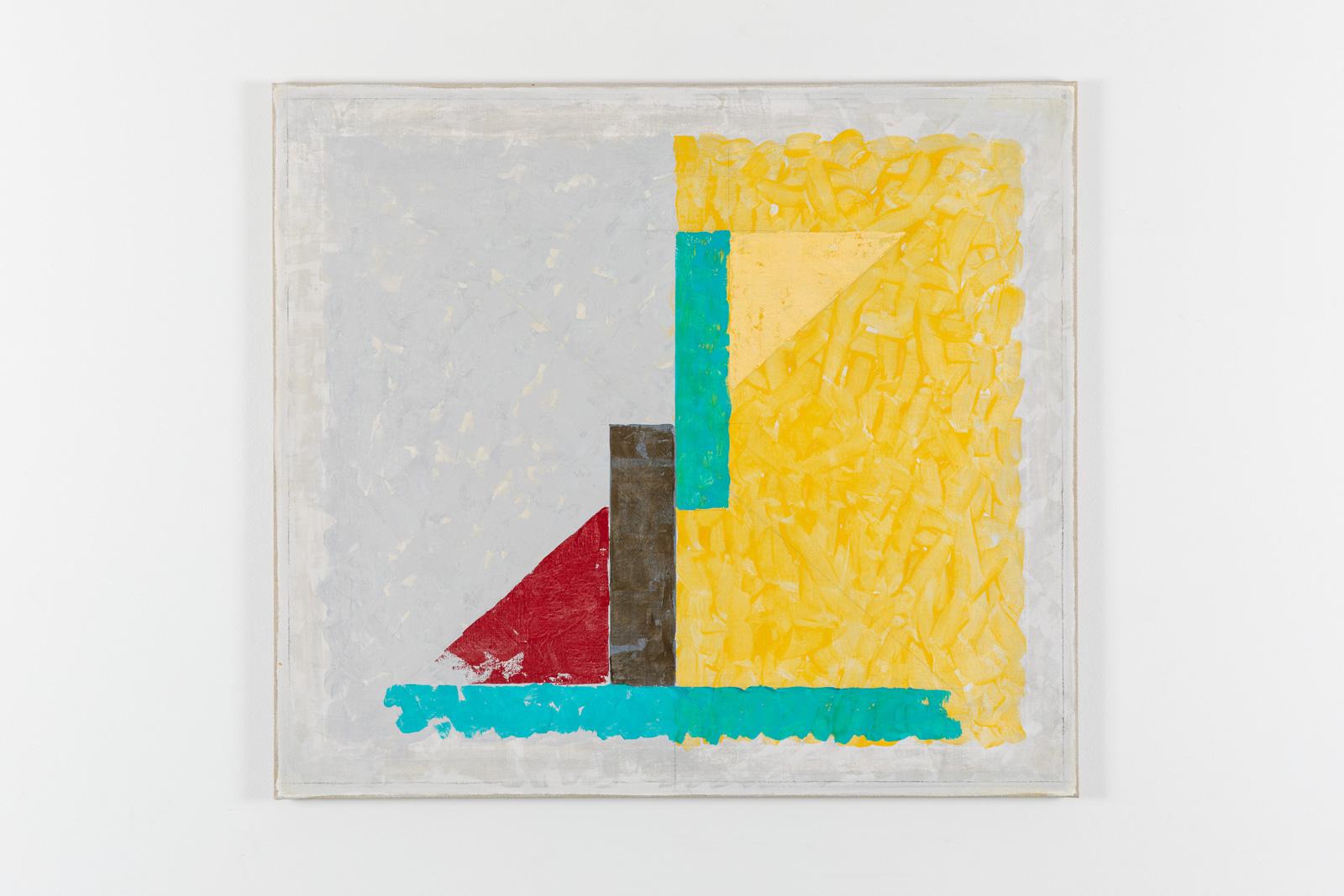 Vila Ziza 24, 2018, Egg tempera on canvas, 80 x 90 cm