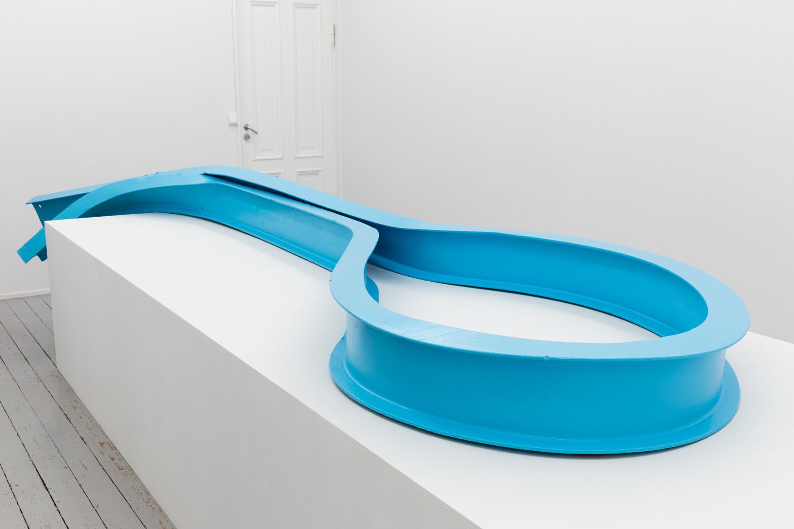 Stilleben, 2014, Painted steel, 55 x 130 x 456 cm