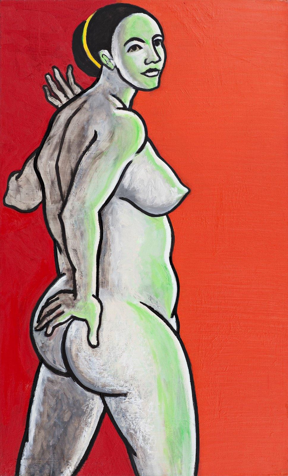 Une grande dame, 2009-2010, oil on canvas, 146 x 89 cm