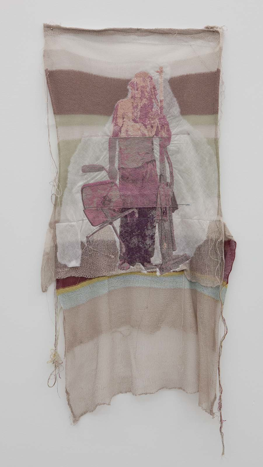 Kontrapost (Martin as Percht), knitted, 2010, embroidery on various textiles