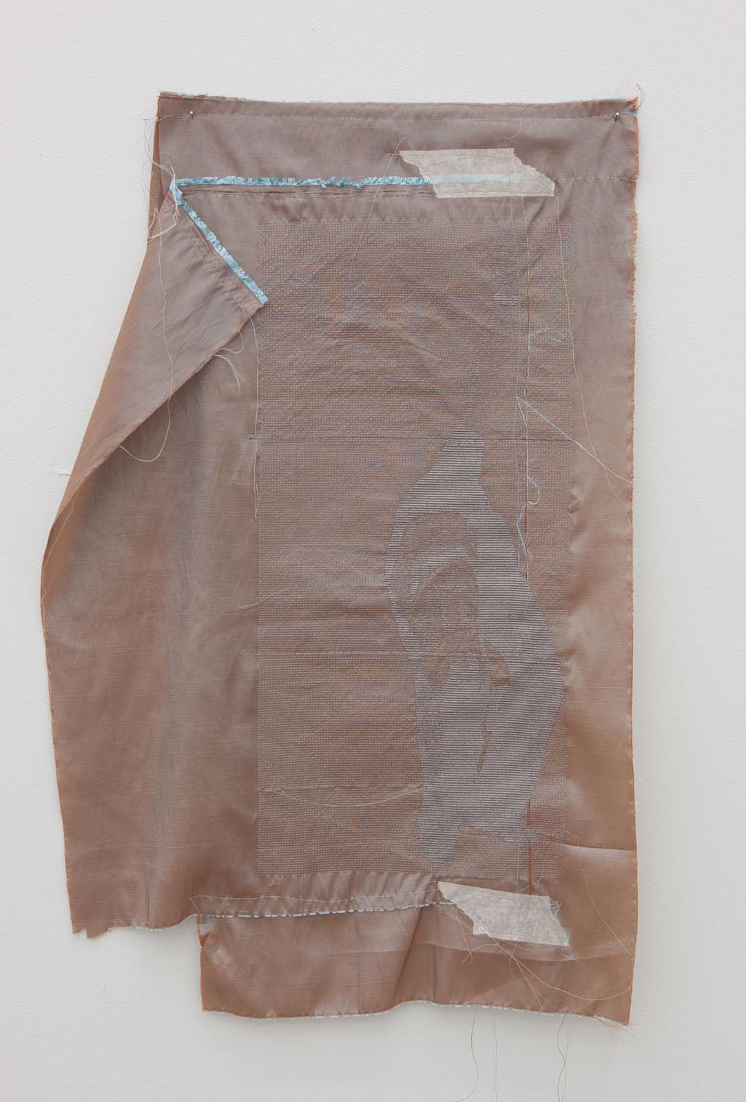 Alef, blind, 2010, embroidery on various textiles