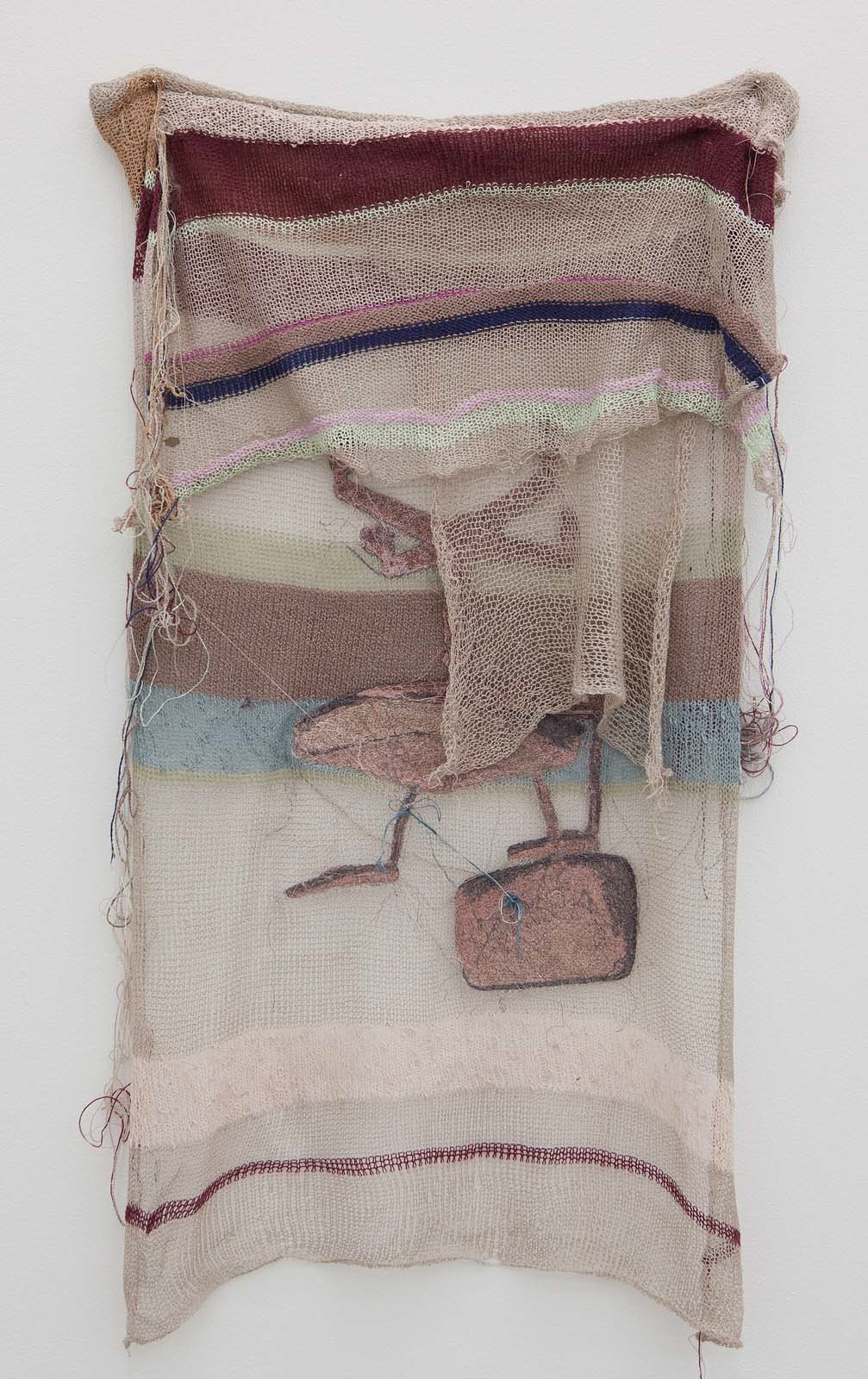 chair, topsy turvy, 2010, embroidery on various textiles