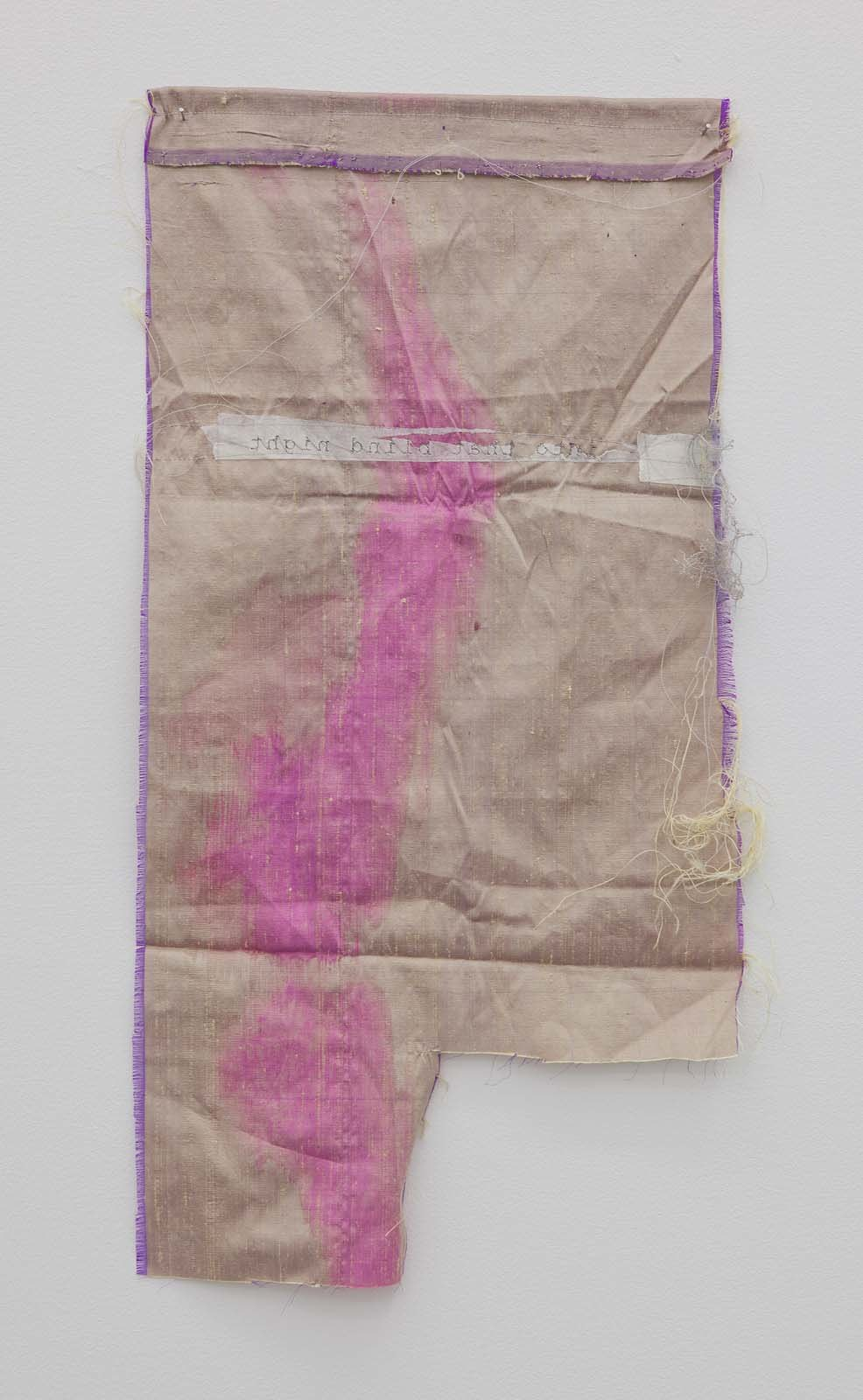 Don't go gentle, 2010,embroidery on various textiles