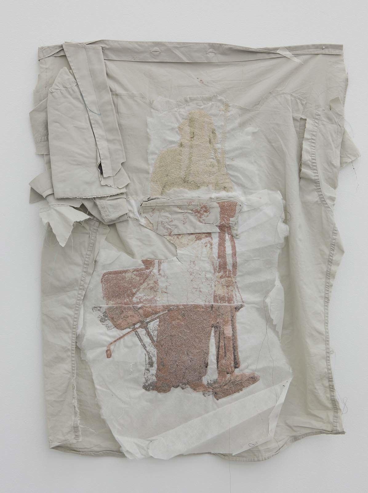 Kontrapost (Esprite), 2010, embroidery on various textiles