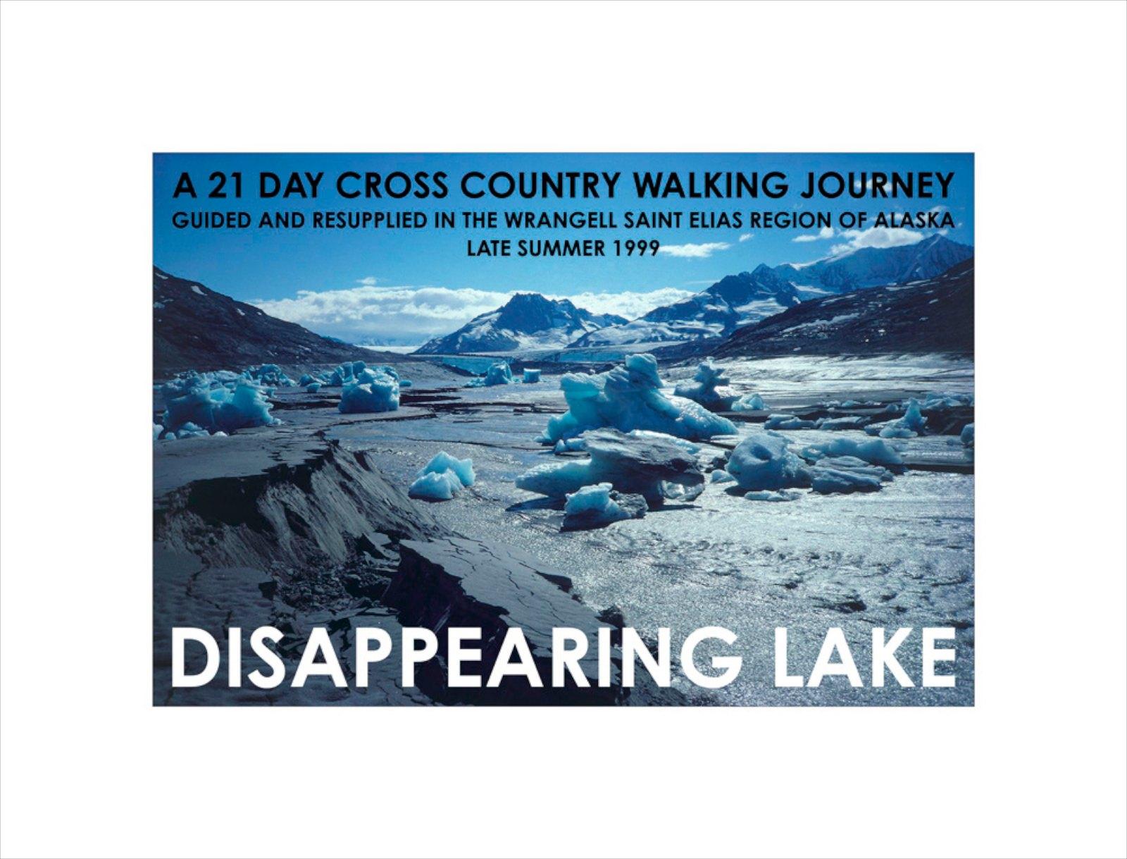 Disappering Lake, Alaska 1999, giclée print, 43 x 56,5 cm