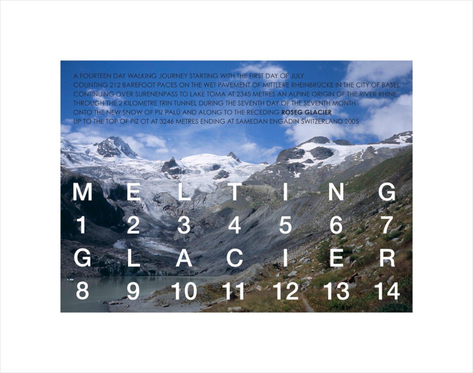 Melting Glacier, Switzerland 2005, Giclée print, 43 x 55 cm