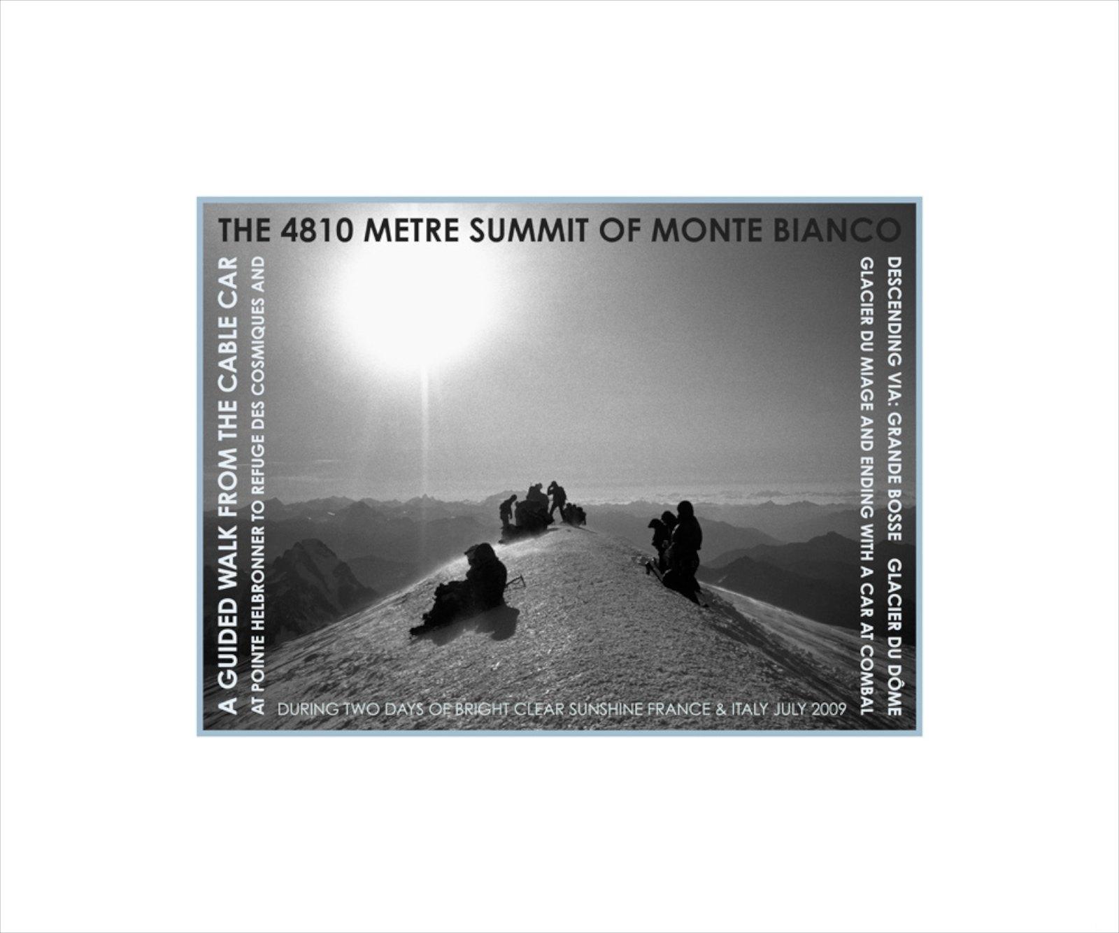 Summit of Monte Bianco, France & Italy 2009, Giclée print, 43 x 51,5 cm