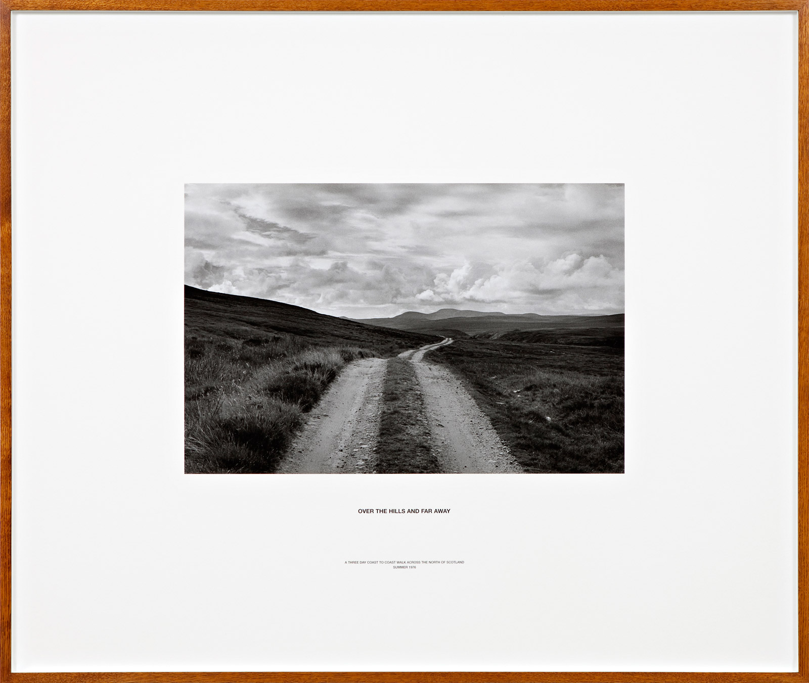 Over the Hills and Far Away, Scotland 1976, silver gelatin photograph and letterpress in artist frame, Unique, 117 x 139 cm