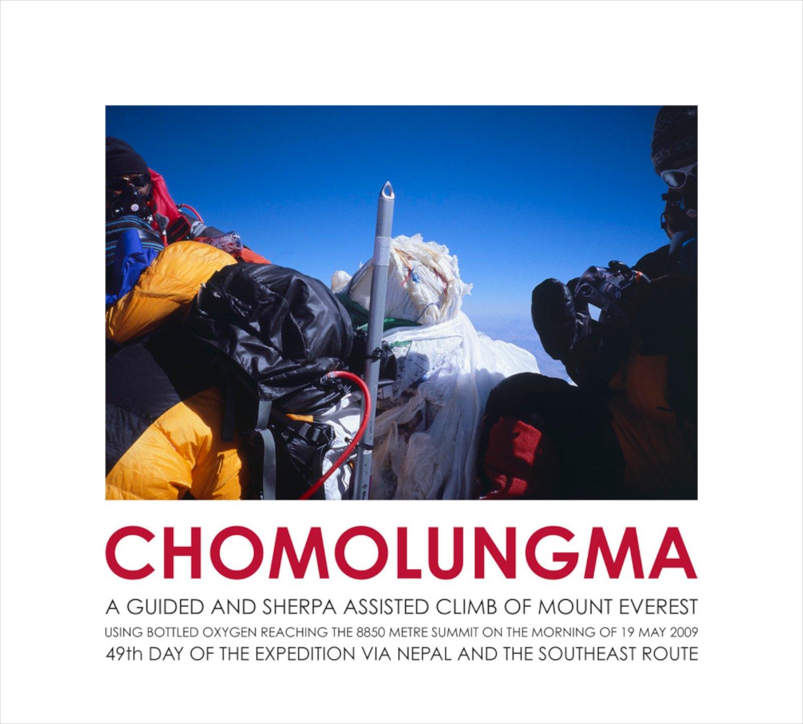 Chomolungma, Mount Everest Summit Photograph, 2009, giclée print, 55 x 61 cm