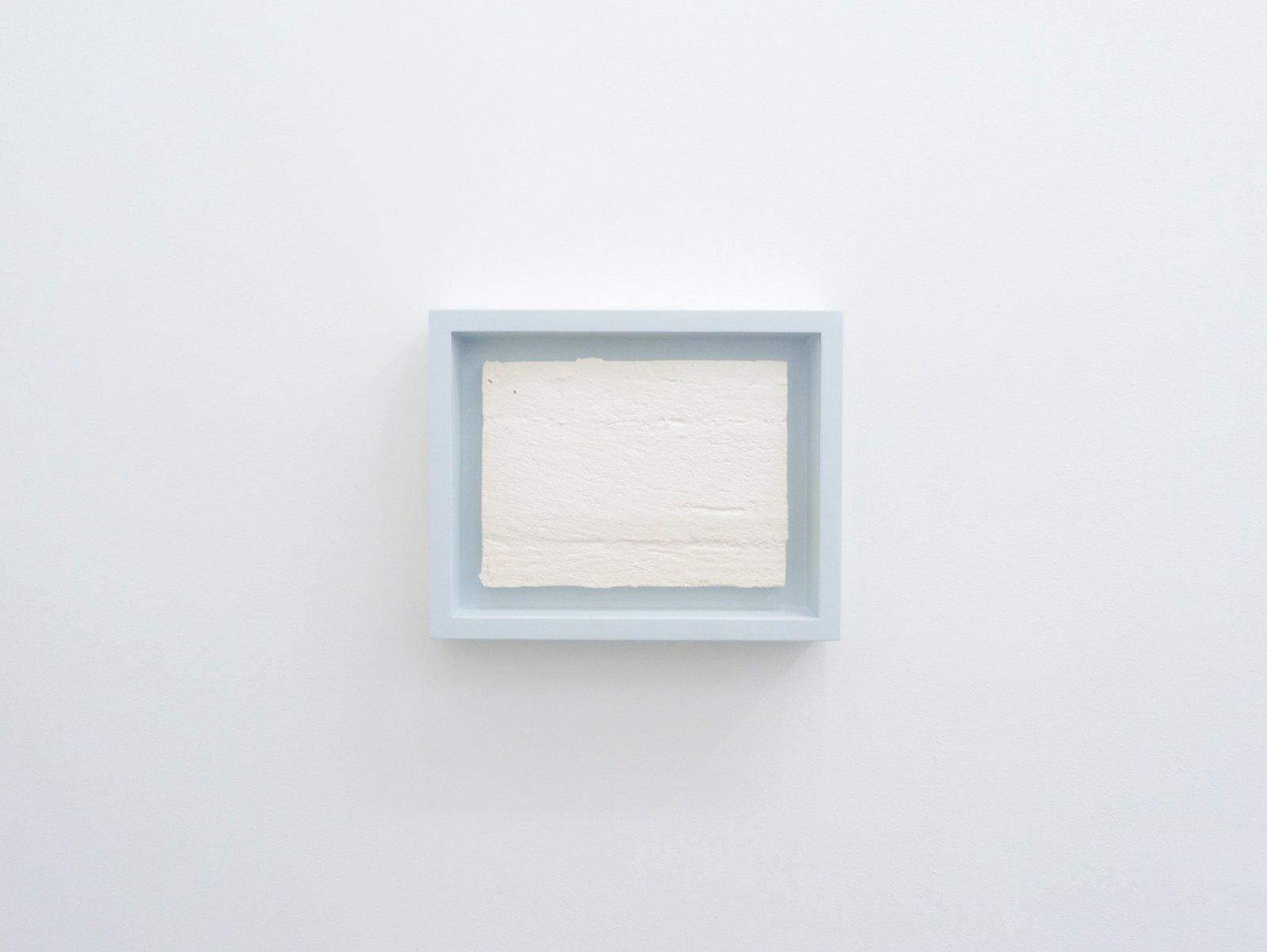 Relief; foyer wall, 2011, plaster, frame, 32,4 x 40,4 x 7,6 cm