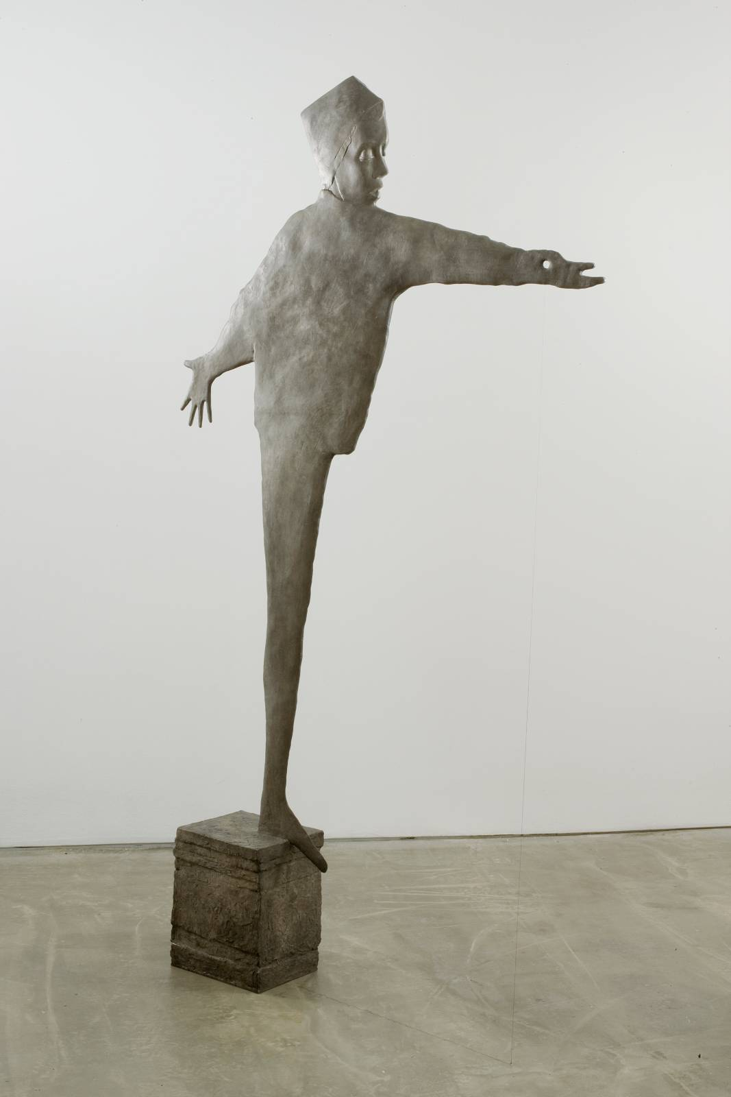 Pilgrim, 2008, patinated bronze, string, 238,8 x 137,2 x 25,4 cm