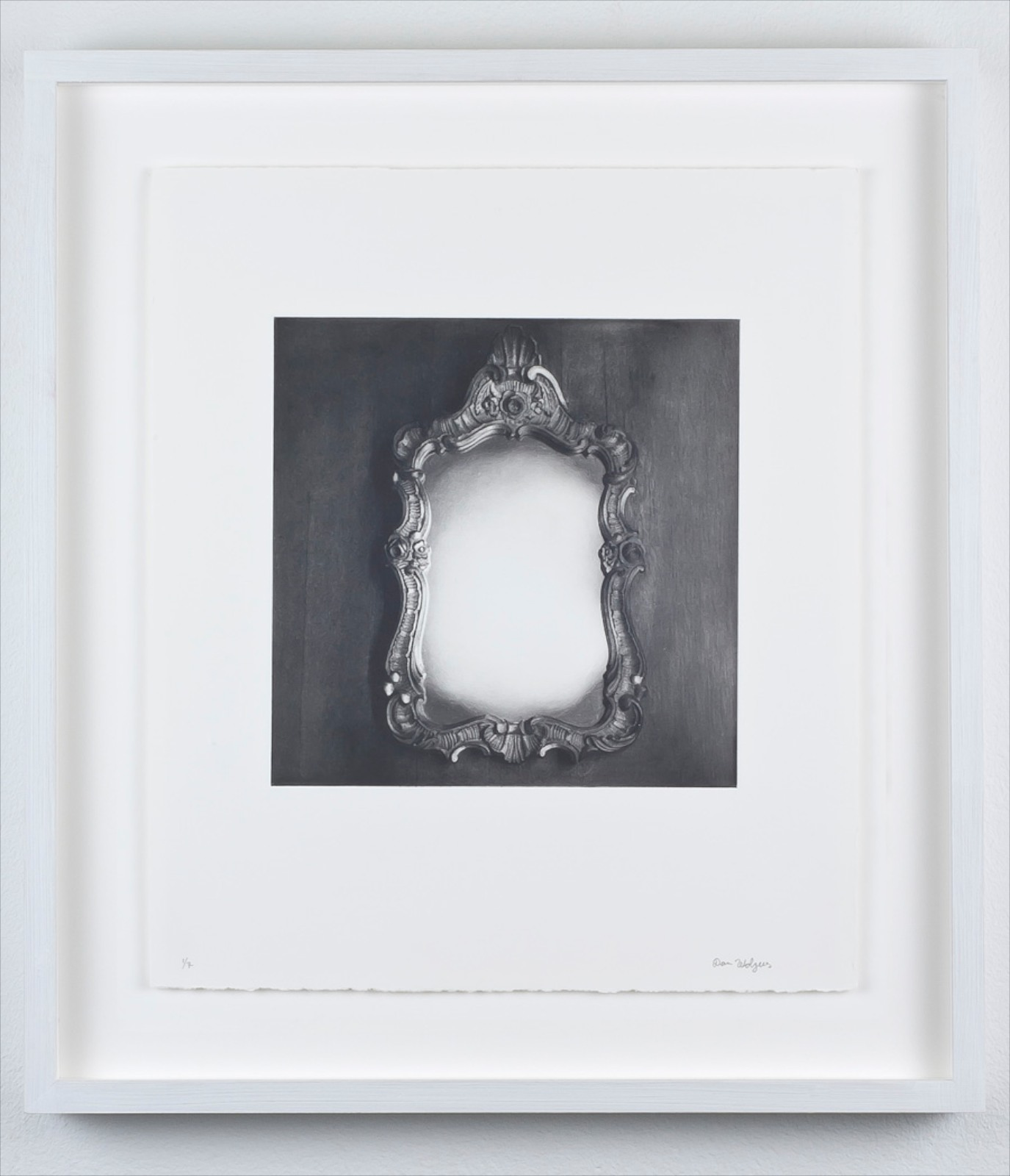 Hidden from view (empty mirror), 2011, photogravure, 31 x 27.8 cm