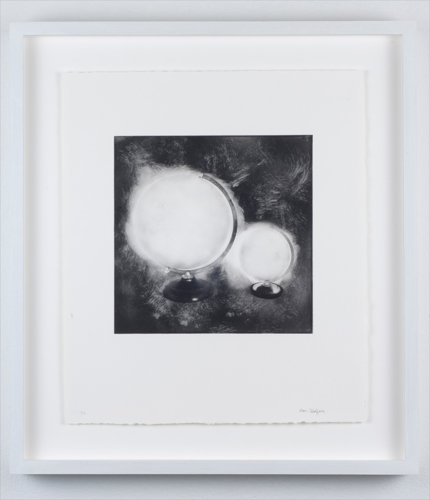 Hidden from view (Large and small globe), 2011, photogravure, 31 x 27.8 cm