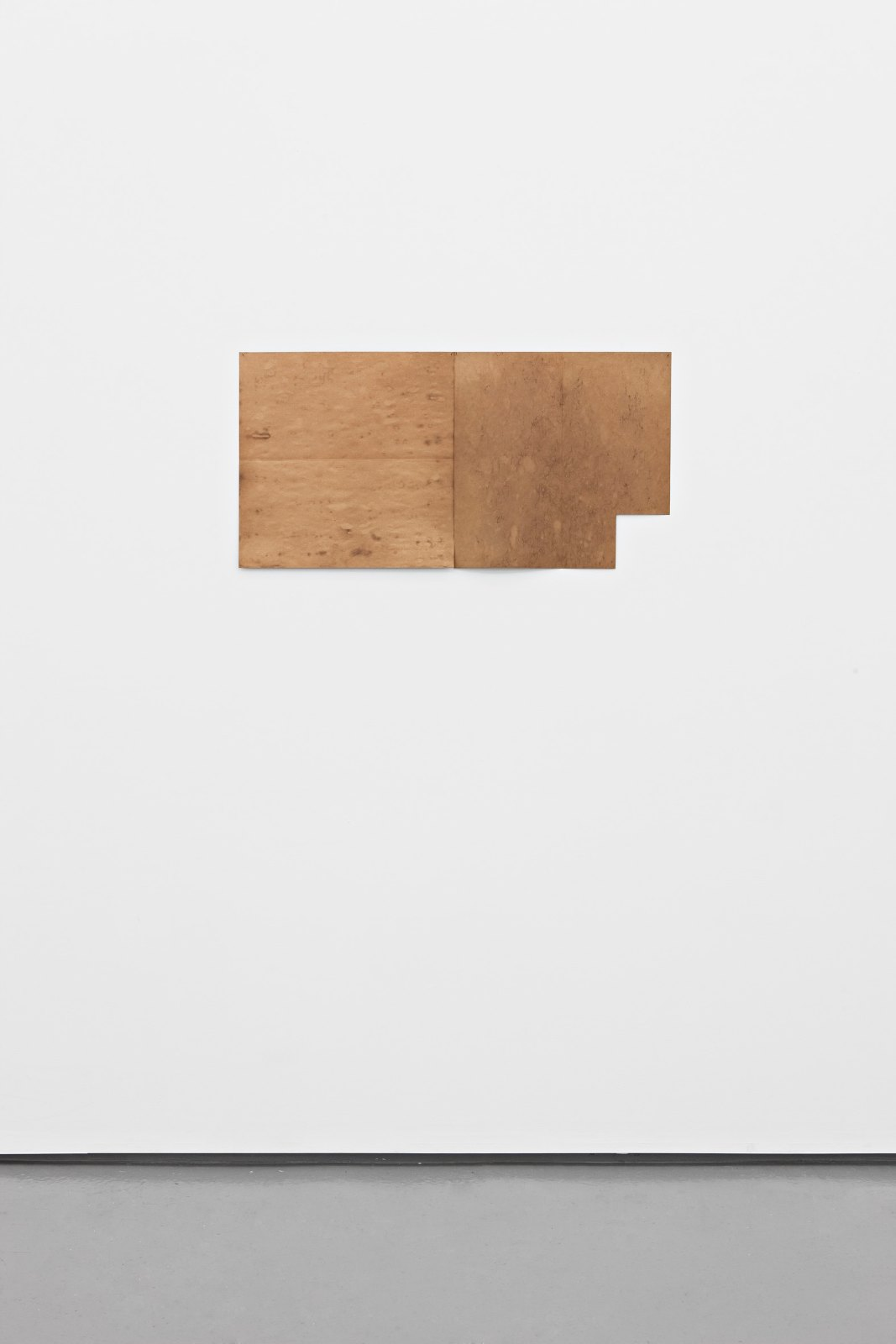 Untitled, 1973/74 (2 parts), asphaltum and paper, each 45 x 45 cm