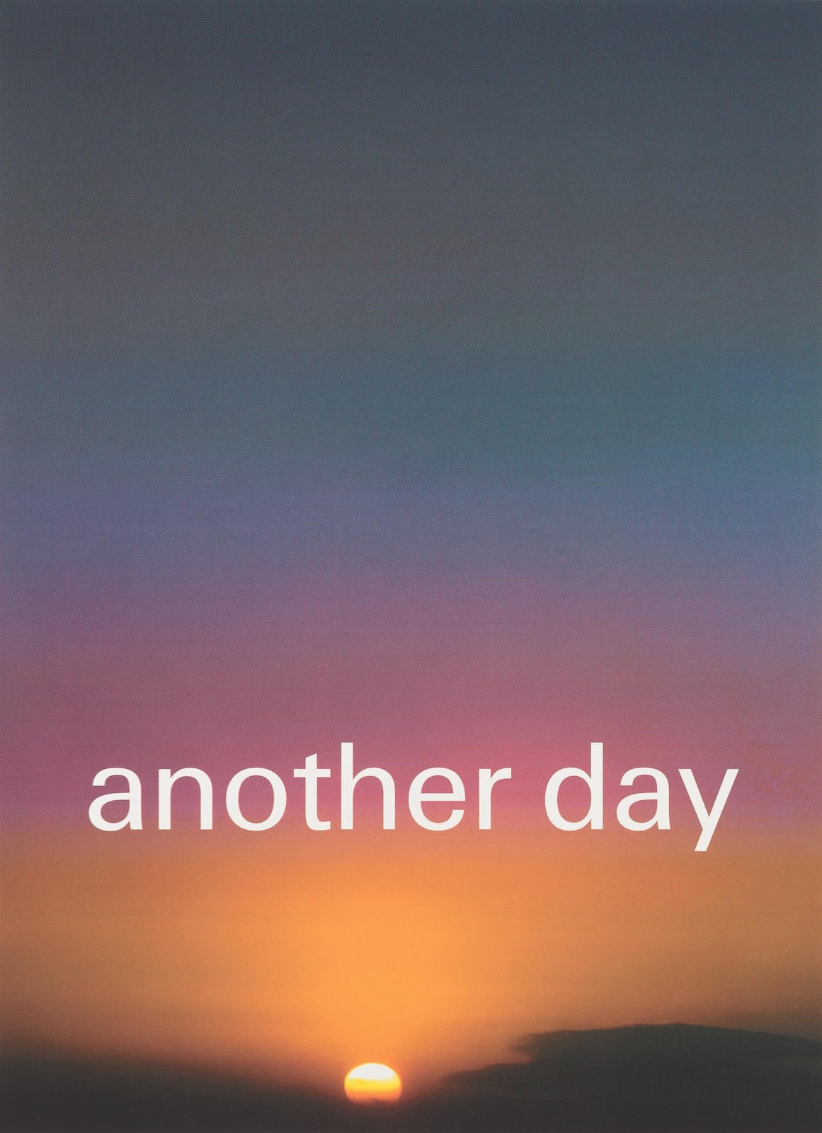 Another Day, 2011, silkscreen on paper, framed, 110 x 80 cm, ed. 50