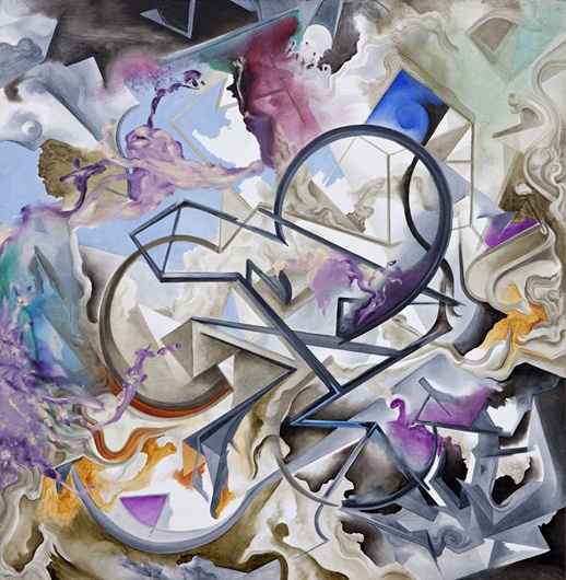 Embracing Perplexity, 1999-2011, oil on canvas, 100 x 100 cm