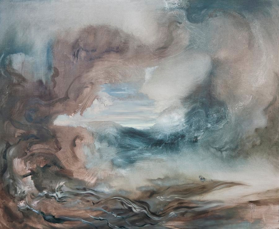 Searching for Imaginary Places V (Sepia), 2011, oil on canvas, 135 x 165 cm