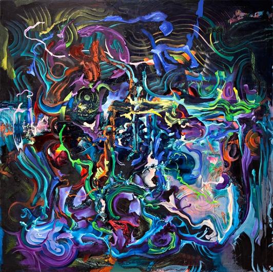 Popular Science, 2004-2011, oil on canvas, 190 x 190 cm