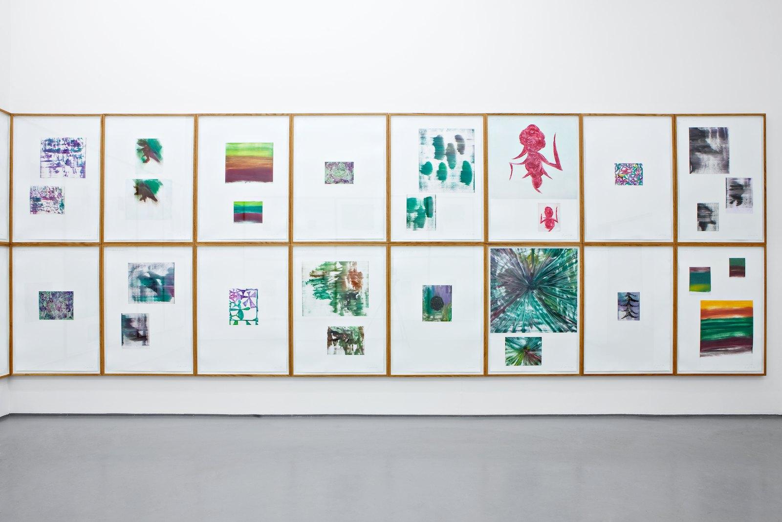 The Living Room, 2011, monotypes, each print 112 x 78 cm