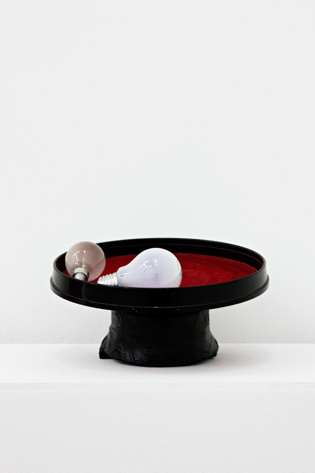 Hidden from view (rotating light bulbs), 2011, mixed media, 13 x 25 x 25 cm