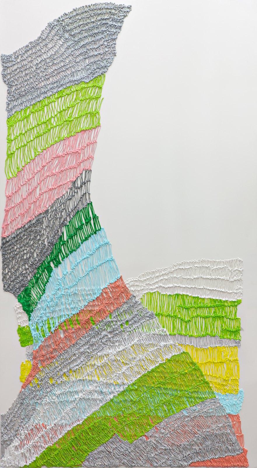 Handmade # 5, 2011-2012, acrylic on alucore, 220 x 120 cm