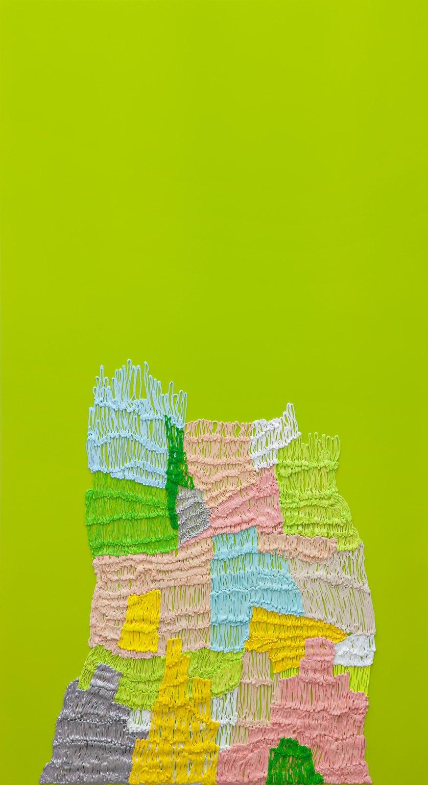 Handmade # 6, 2011-2012, acrylic on alucore, 220 x 120 cm
